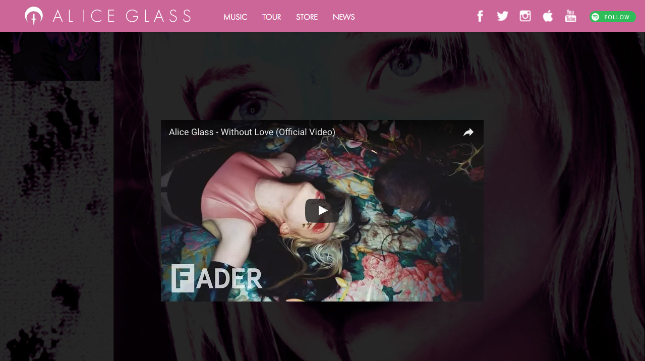 Alice Glass moon dagger logomark design for website (2017)  David M. Brinley Illustration