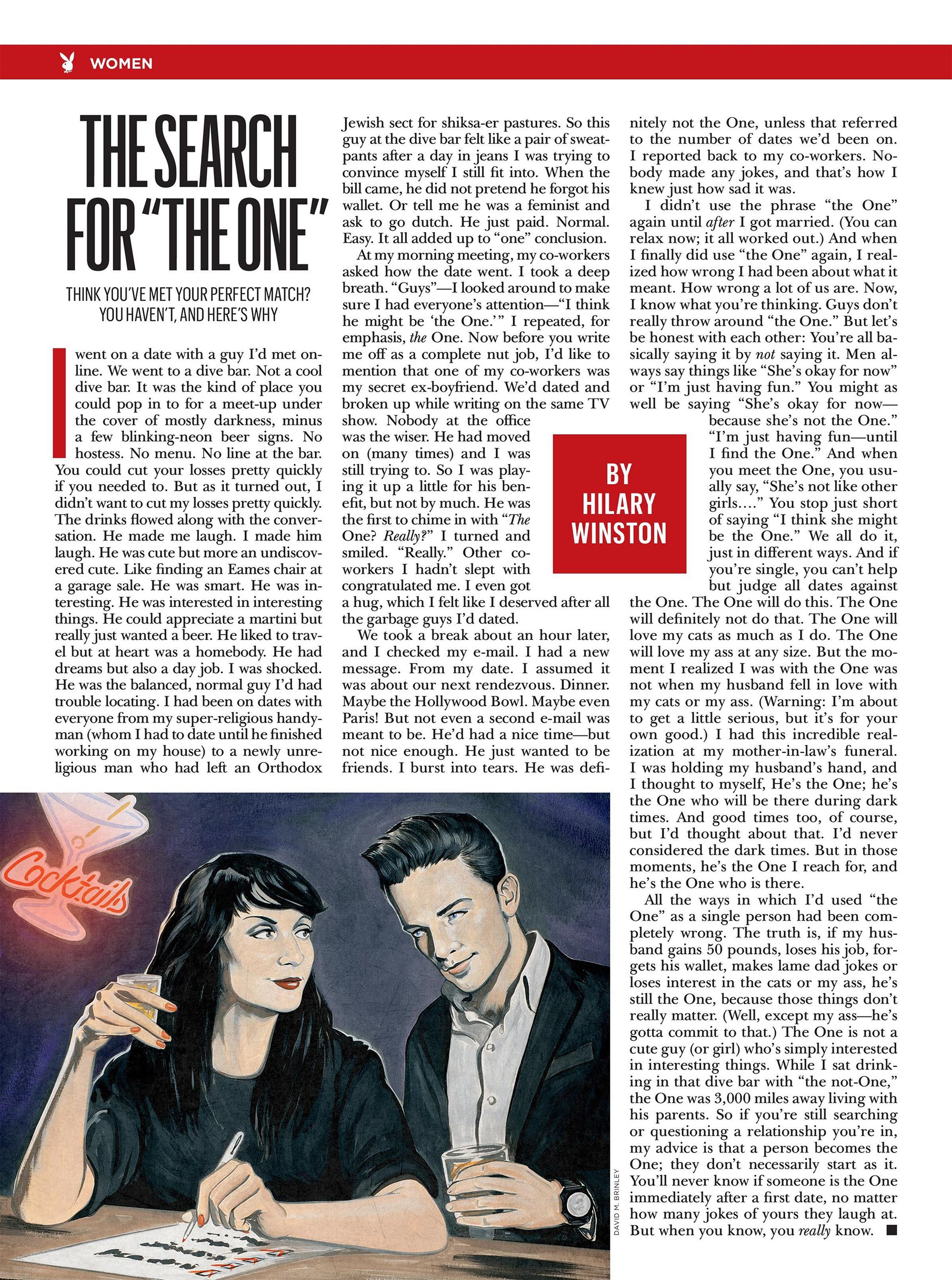 "The Search For ""The One""  