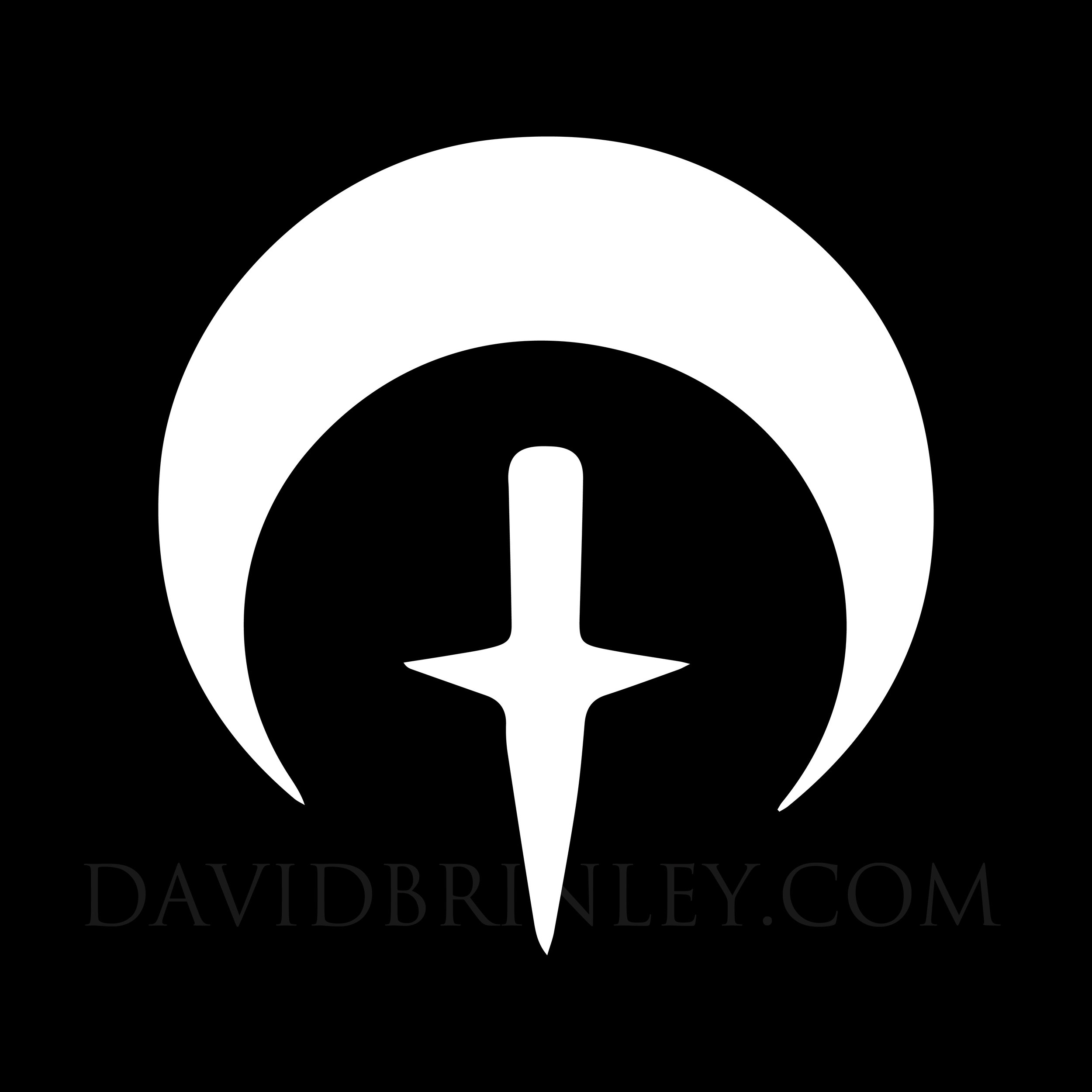 Alice Glass moon dagger logomark design (2017)   David M. Brinley Illustration