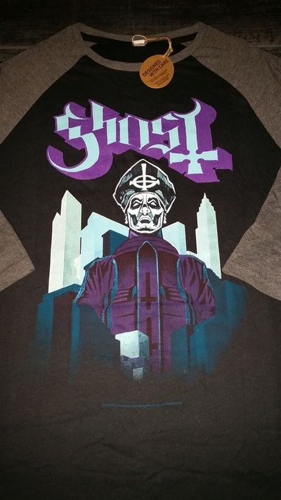 GHOST | Necropolitan    Acrylic on paper and digital   Official Meliora raglan tour T-shirt