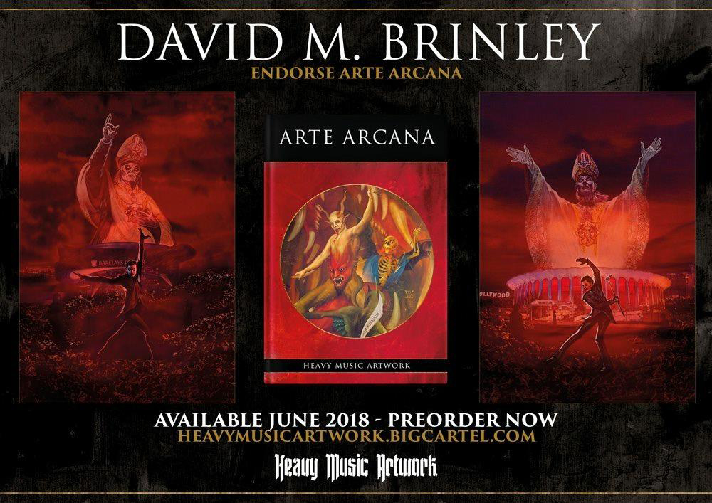 ARTE ARCANA | featuring David M. Brinley illustration  | 79 artists | 300 Limited Editions | August 2018 | Heavy Music Artwork Press