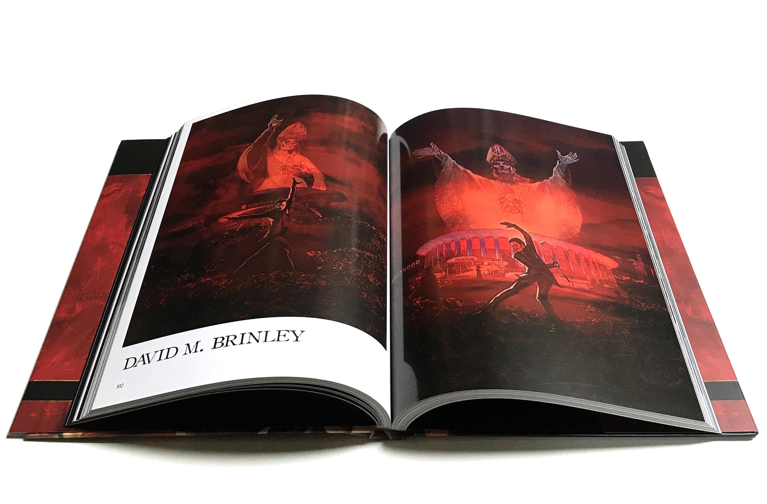 ARTE ARCANA   featuring David M. Brinley illustration    79 artists  300 Limited Editions   August 2018   Heavy Music Artwork Press