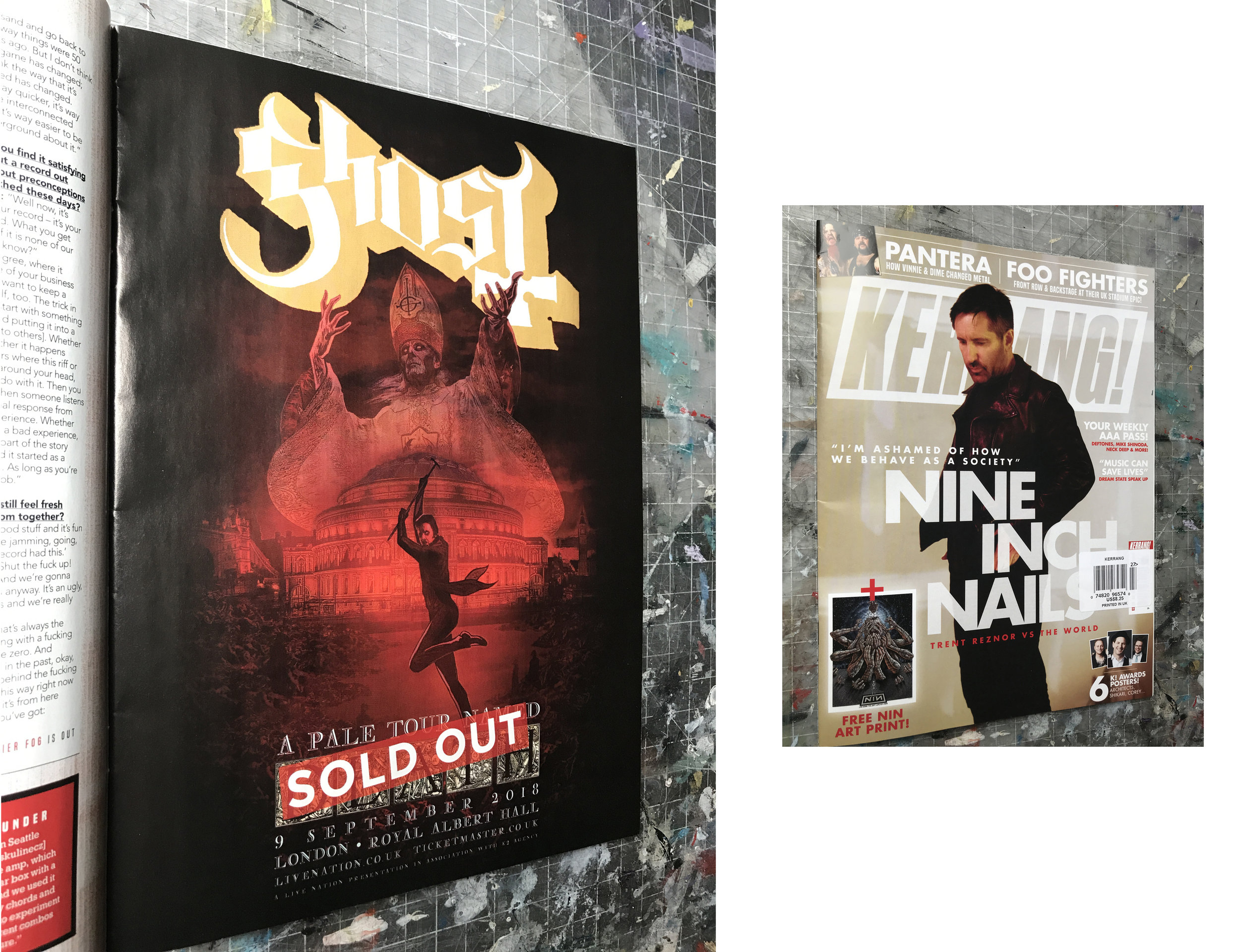 GHOST | Royal Albert Hall | September 9, 2018   A Pale Tour Named Death Official advert   July 4, 2018 KERRANG! magazine #1729