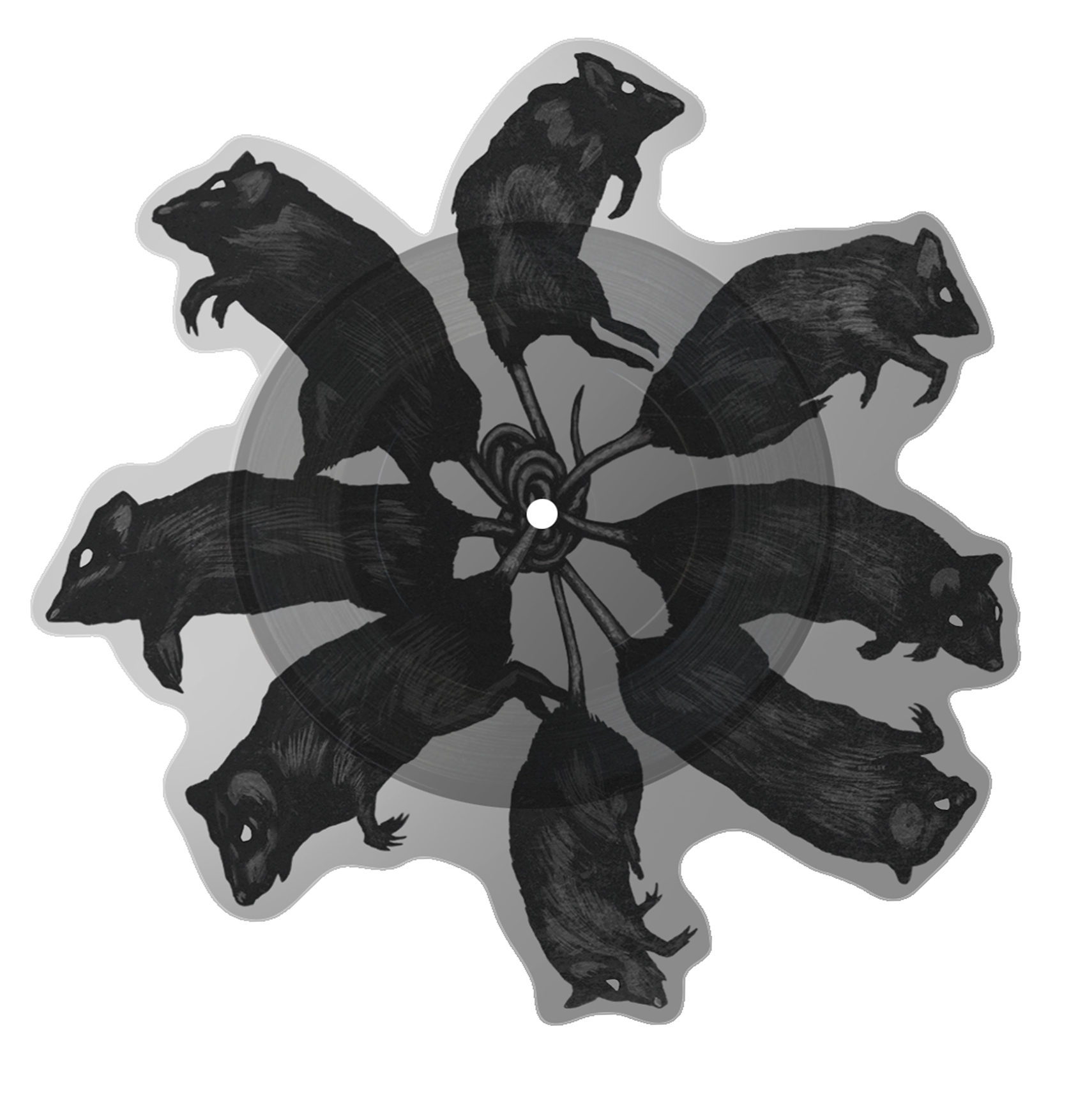 "GHOST | Rats! On The Road 2018 official tour merchandise   10"" picture disc  Acrylic on paper and digital"