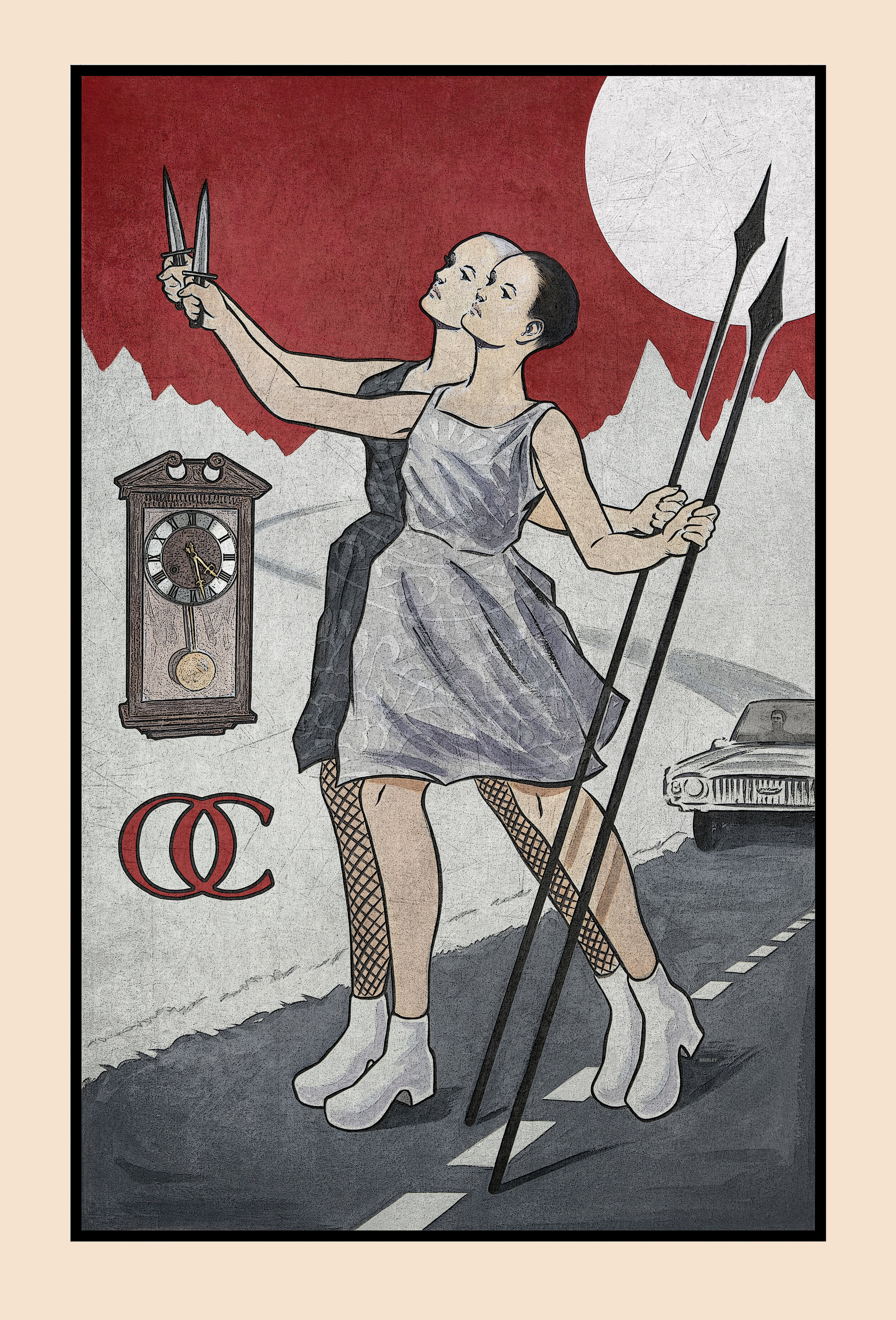 OVERCOATS | 'The Fool'   Inspired by a tarot card of the same name — the card signifies taking a blind, courageous, leap of faith.  300 fans were sent an exclusive postcard of the design. September 2019.