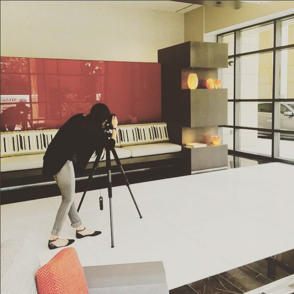 So great to see  @studiomaha  in action! Thanks for shooting our lobby renovation project today Maha!!!  #design   #interiordesign   #modern   #moderndesign   #renovation   #sandiego   #marinadistrict   #kristibyersarchitect