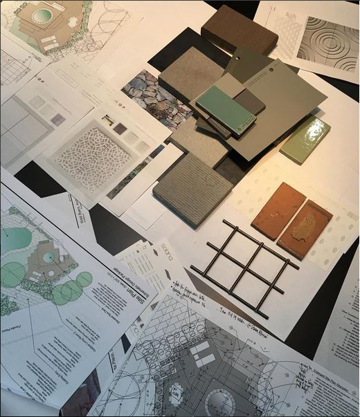 We had a fun materials reveal at a client design review meeting today. #whatanarchitectdoes #architecture #design #residentialdesign #modern #materials #finishmaterials #exteriorspaces #outdoorlivingroom #sketches #tile #palette #materialspalette #kristibyersarchitect #ilookup #moderndesign