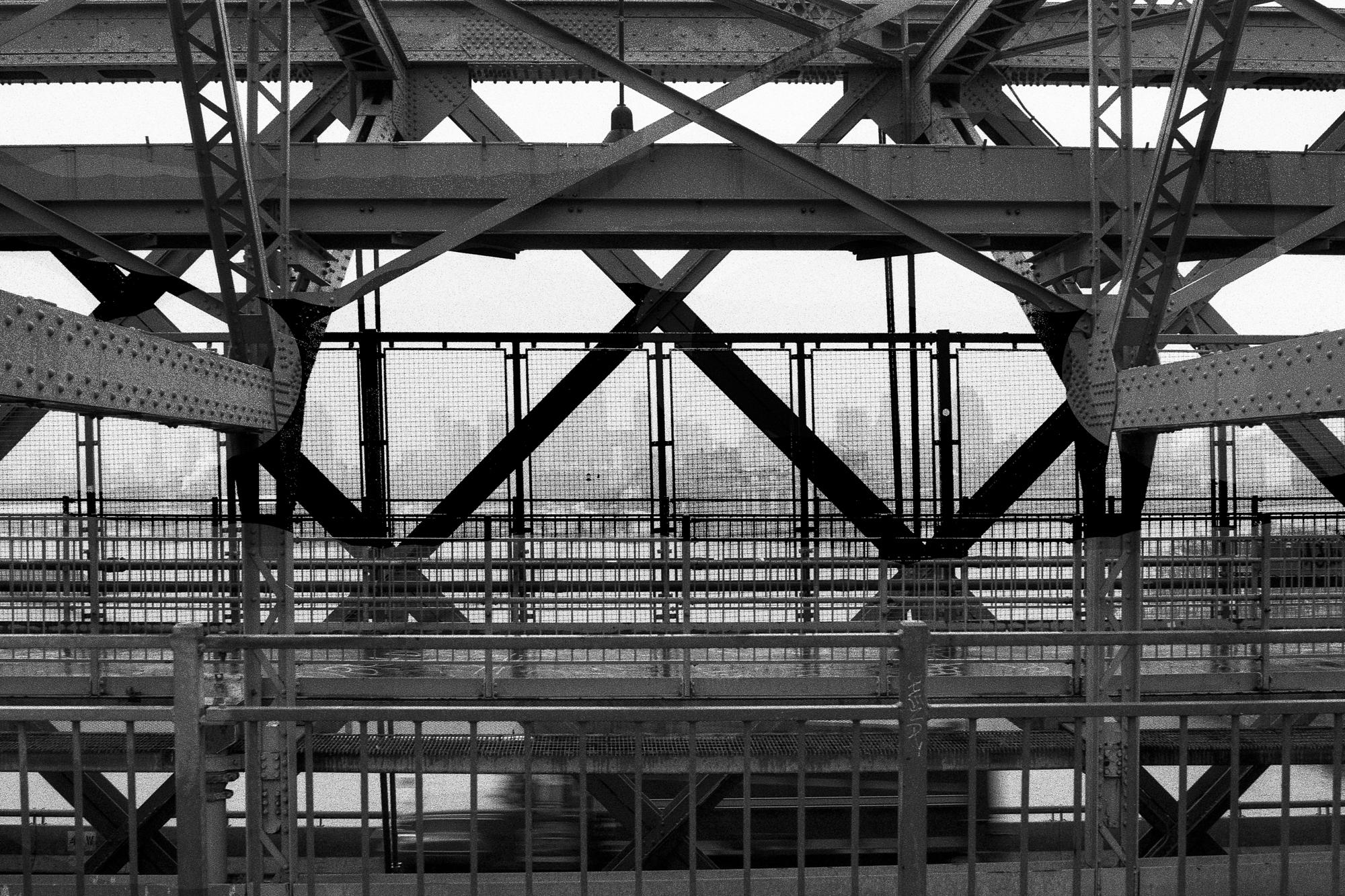 M Train Williamsburg Bridge Manhattan, N.Y