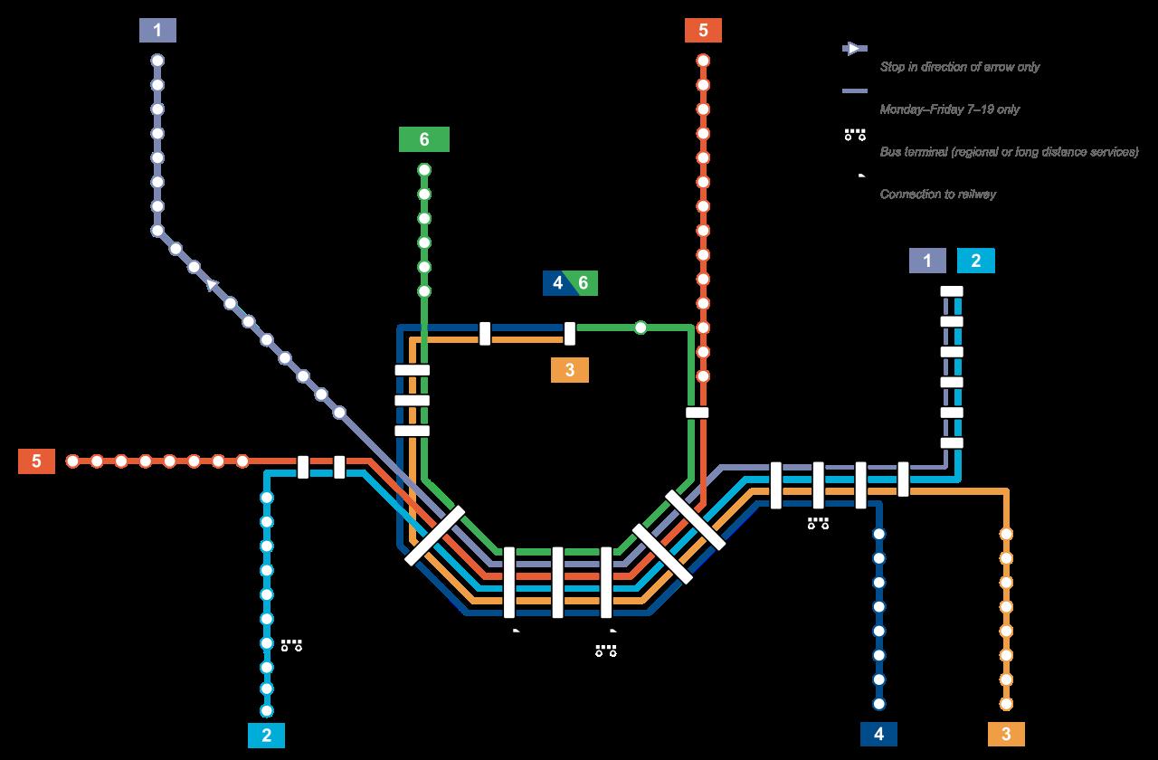Kart t-bane metro i Oslo