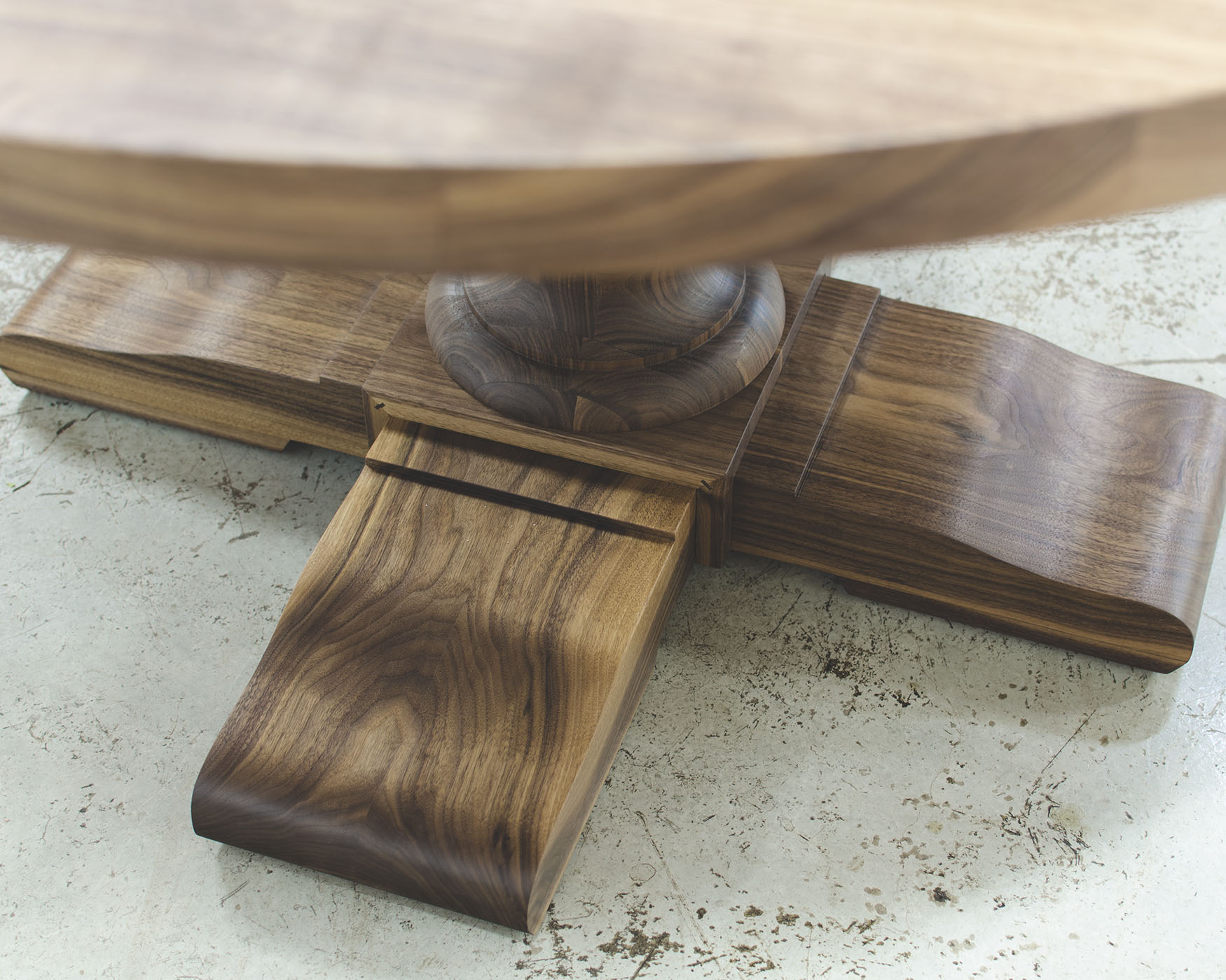Table de cuisine avec pied central
