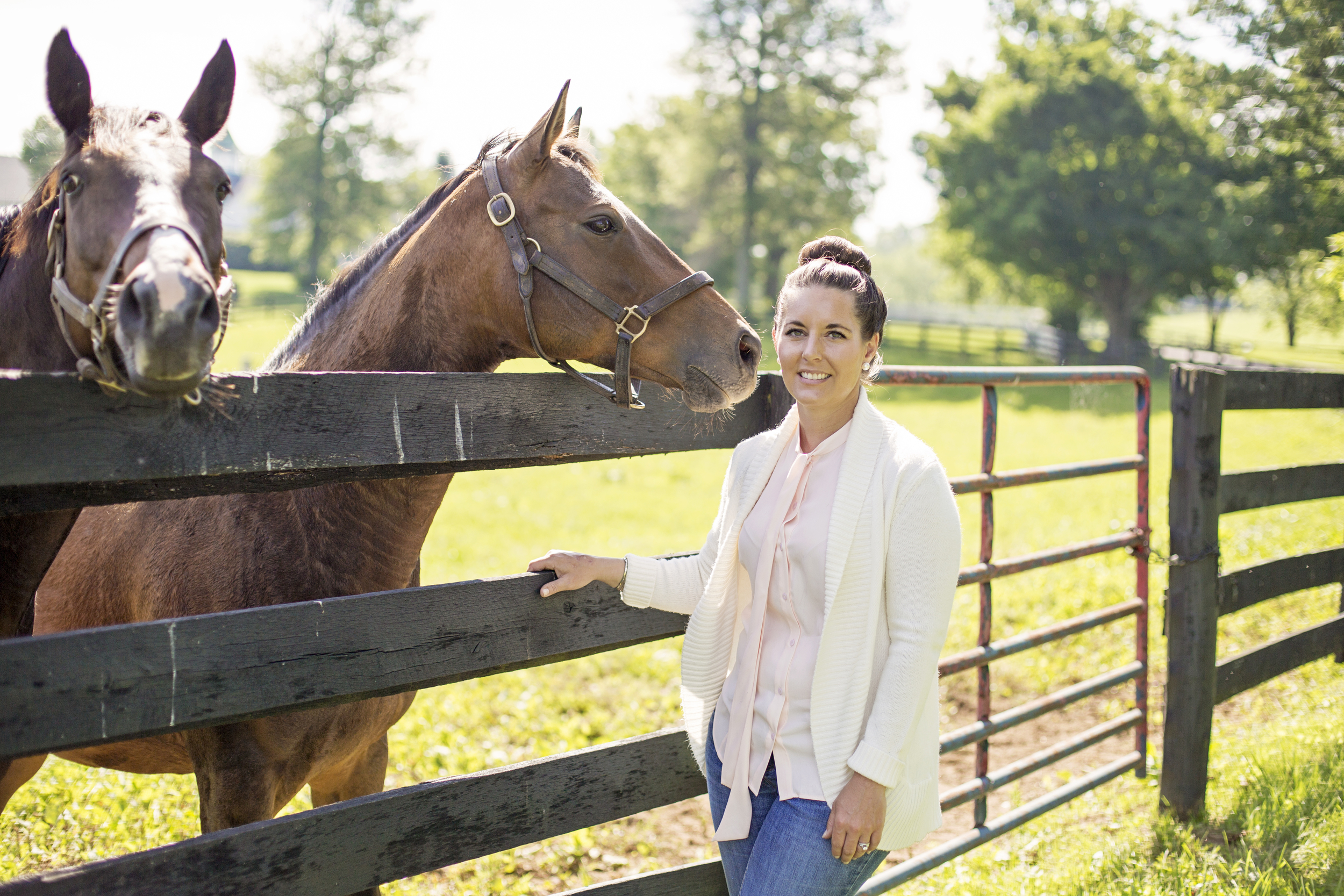 Kelli Cross  is a central Kentucky native who grew up with horses and has devoted her life to raising quality stock.  Her experience on commercial farms allows for her to meld big farm experience and talent to Sovereigns boutique size and atmosphere.  This gives clients a chance to build commercial portfolios while taking advantage of our personalized service and hands on approach.  Along with the massive amount of reproduction experience, Kelli also has a proven track record of producing profitable yearlings, and outstanding racehorses.  She feels the cornerstone in a quality yearling program is great horsemanship.  Nutrition and quality blacksmith work are also paramount at Sovereign Farm.  Kelli holds a Bachelors of Science in Equine Production from the University of Kentucky, and is a very active volunteer in Lexington, Kentucky as well as in the Equine community.