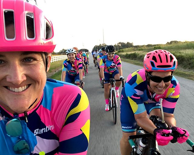 Haute Wheels Racing had a blast yesterday at the Katy Flatland Century. Ten of us knocked out 73 miles together. There was some tomfoolery (lots and lots of singing) along the way plus exceptional teamwork. 💖 Thank you NWCC for hosting this fantastic event every year, and thank you to our amazing sponsors @baseperformance @christopherbeancoffee @sheetzioperformance @traughbernutrition #kfc #katyflatlandcentury #katyflatland #hautewheelsracing #teamwork