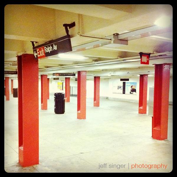 Empty Brooklyn Subway Station