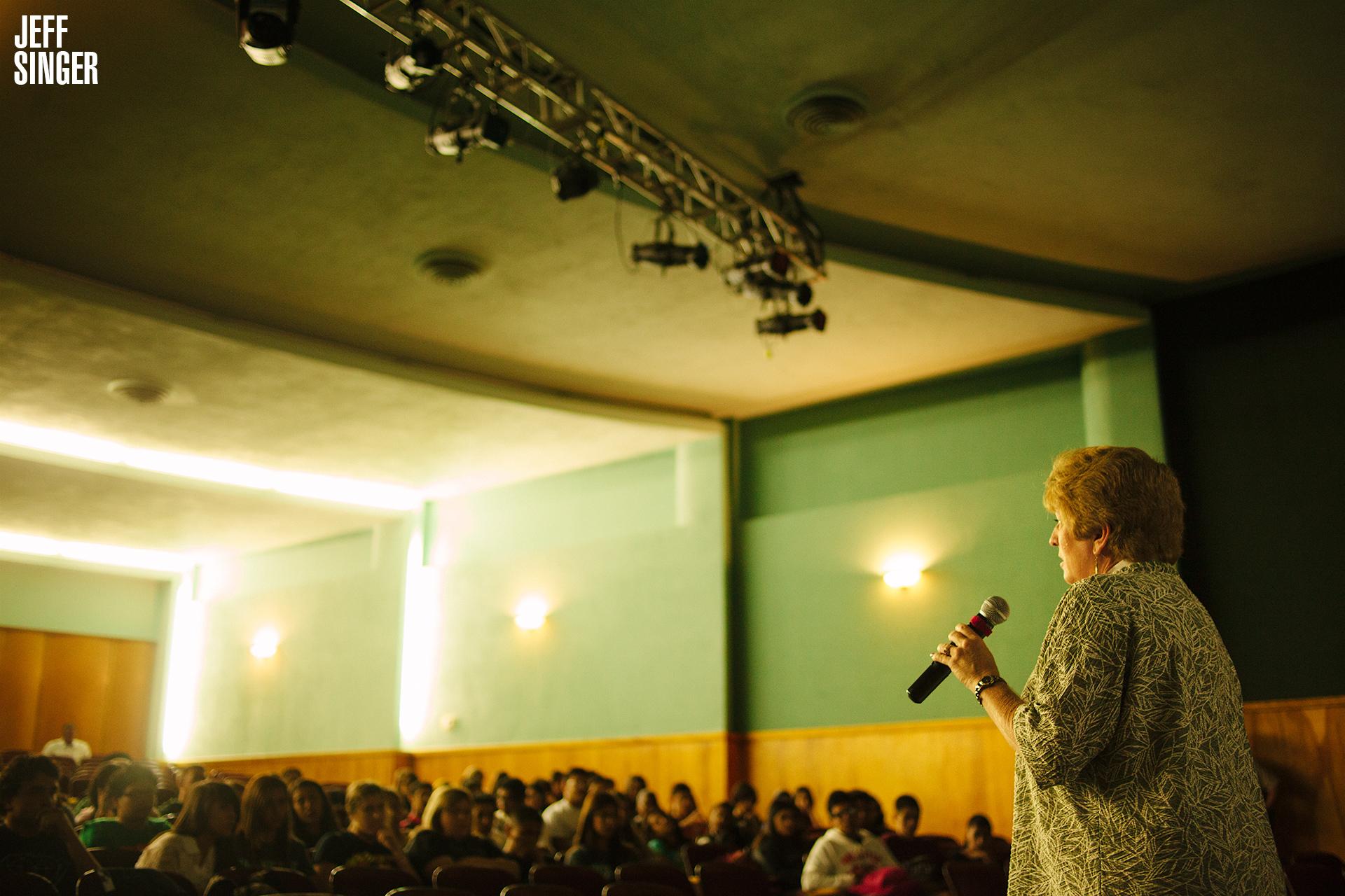 Martha Tessmer Lecturing