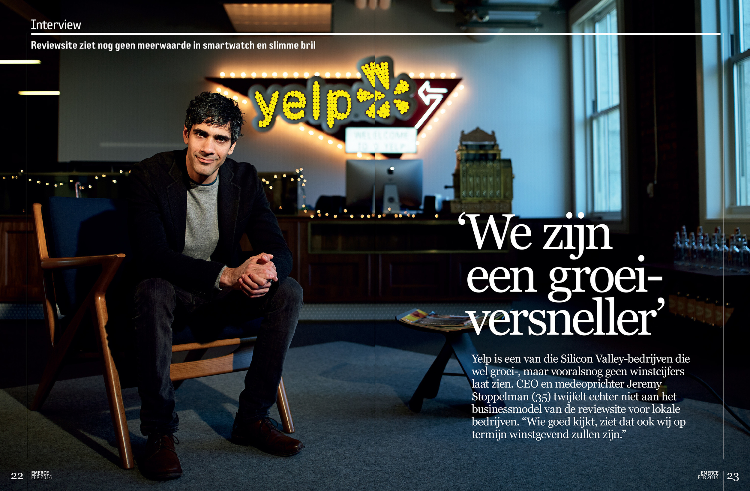 Jeremy Stoppelman at Yelp's new headquarters,