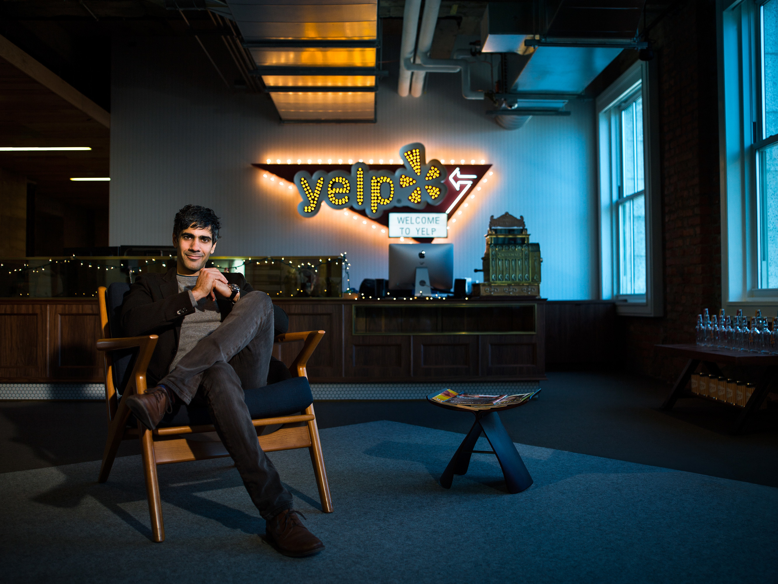 Jeremy Stoppelman at the new Yelp headquarters.