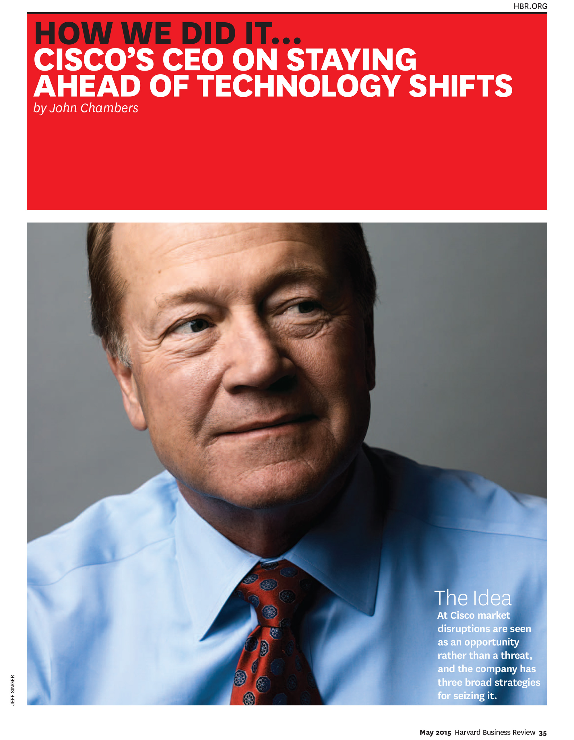 Cisco System's CEO John Chambers for Harvard Business Review