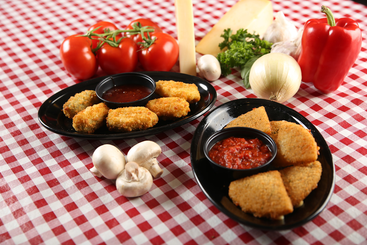 Appetizers - Garlic Bread. . . . . . . . . . $2.99With cheese: $3.99Bread sticks. . . . . . . . . . $2.99With cheese: $3.99Fried Mozzarella. . . . . . . $5.99Lightly seasoned and breaded wedges, made from fresh mozzarellaand fried until golden brown. Served with a side of our signature pasta sauce.Jalapeno Poppers. . . . . . $5.99Juicy jalapeno peppers breaded and filled with cream cheese and fried to golden perfection. Served with a side of our thai chili sauce.French Fries. . . . . . . . . . $2.99A generous portion of Golden Deliciousness, enough to share.