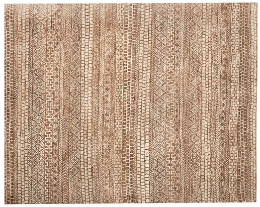 Summer braided jute rug.