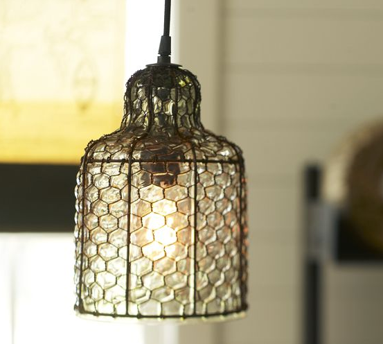 And fine. I like this Harlowe wire and glass indoor/outdoor pendent too.