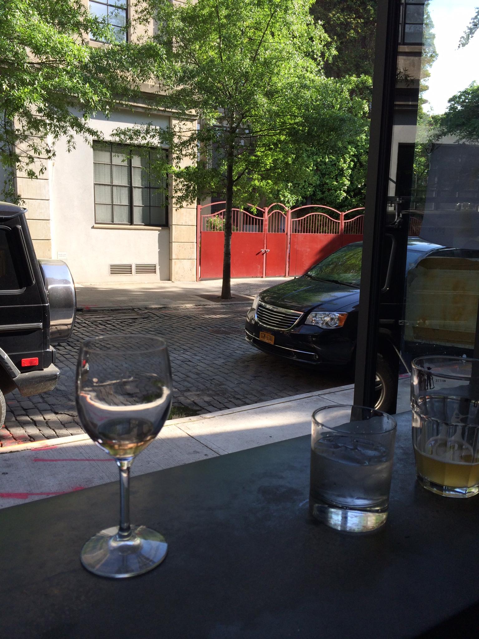Cooling off at our favorite West Village bar.
