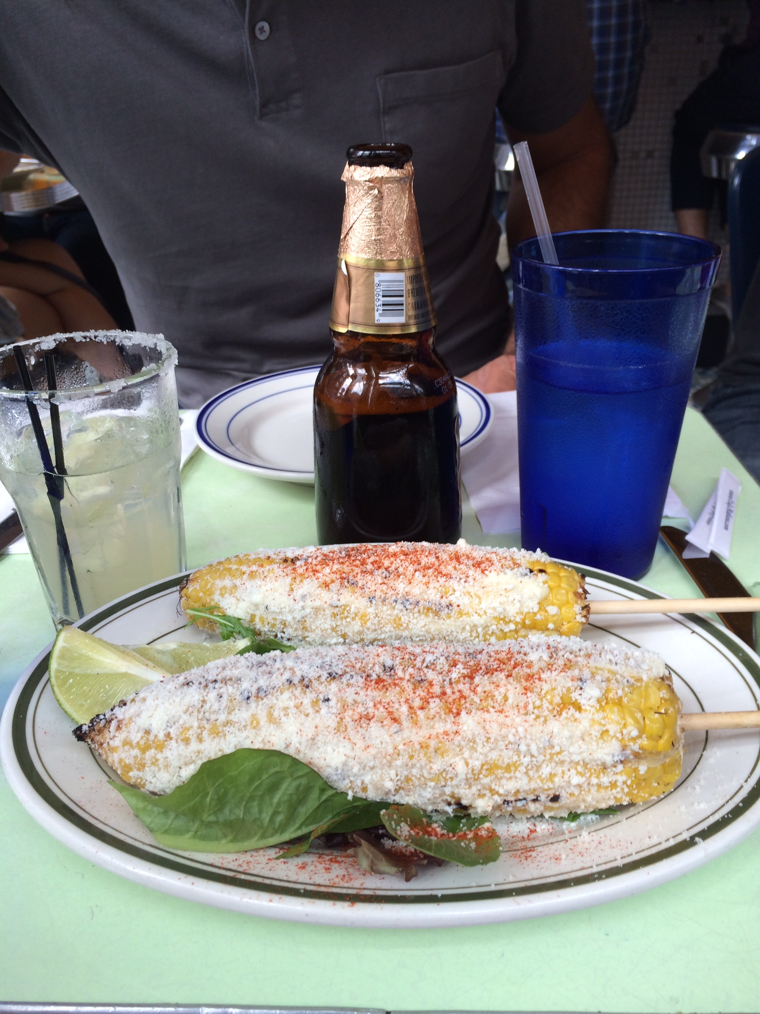 Cafe Habana's Grilled Mexican Corn in Nolita.
