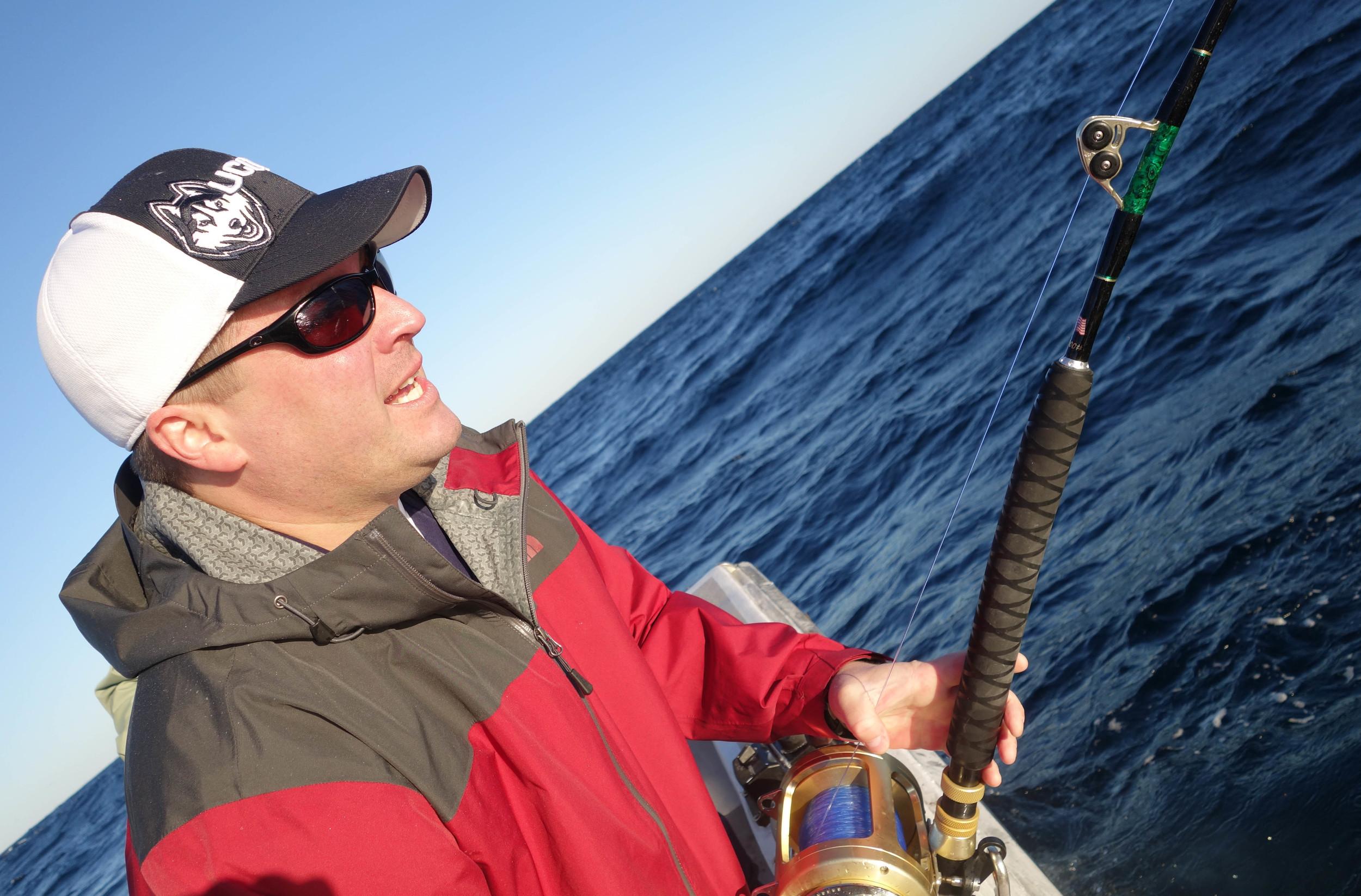160 pound Tuna on the line