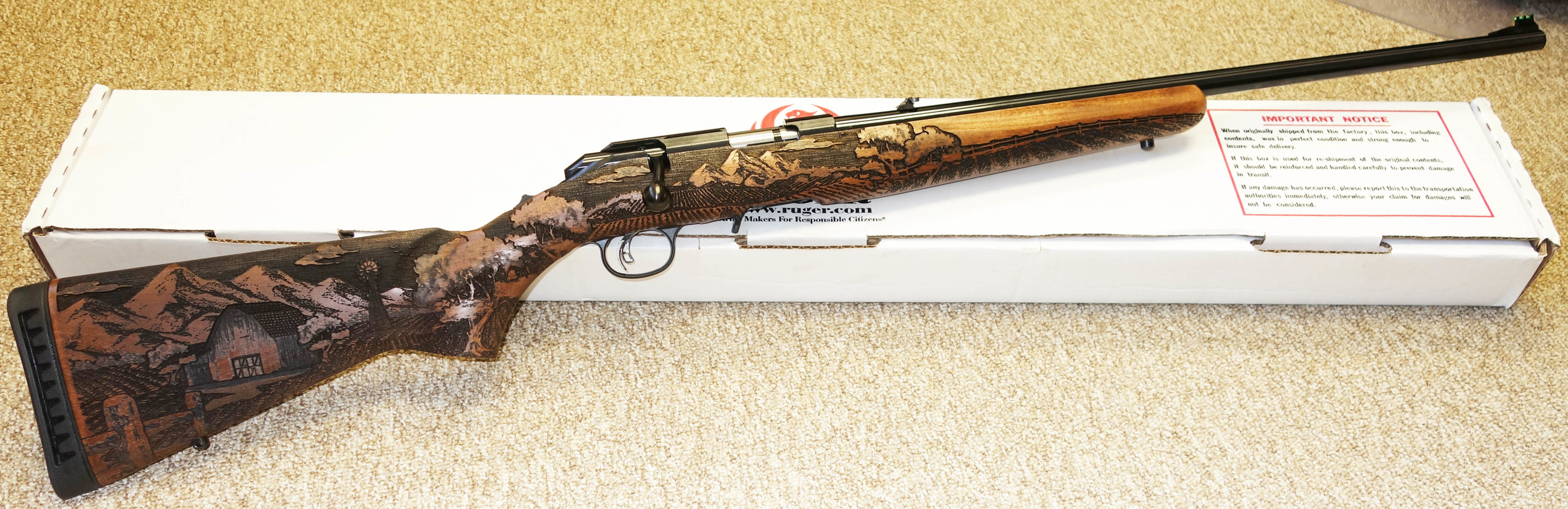 No a great photo but we will do a limited edition American Farmer and a Cattle Drive in a Ruger American Bolt action .22. details to follow.