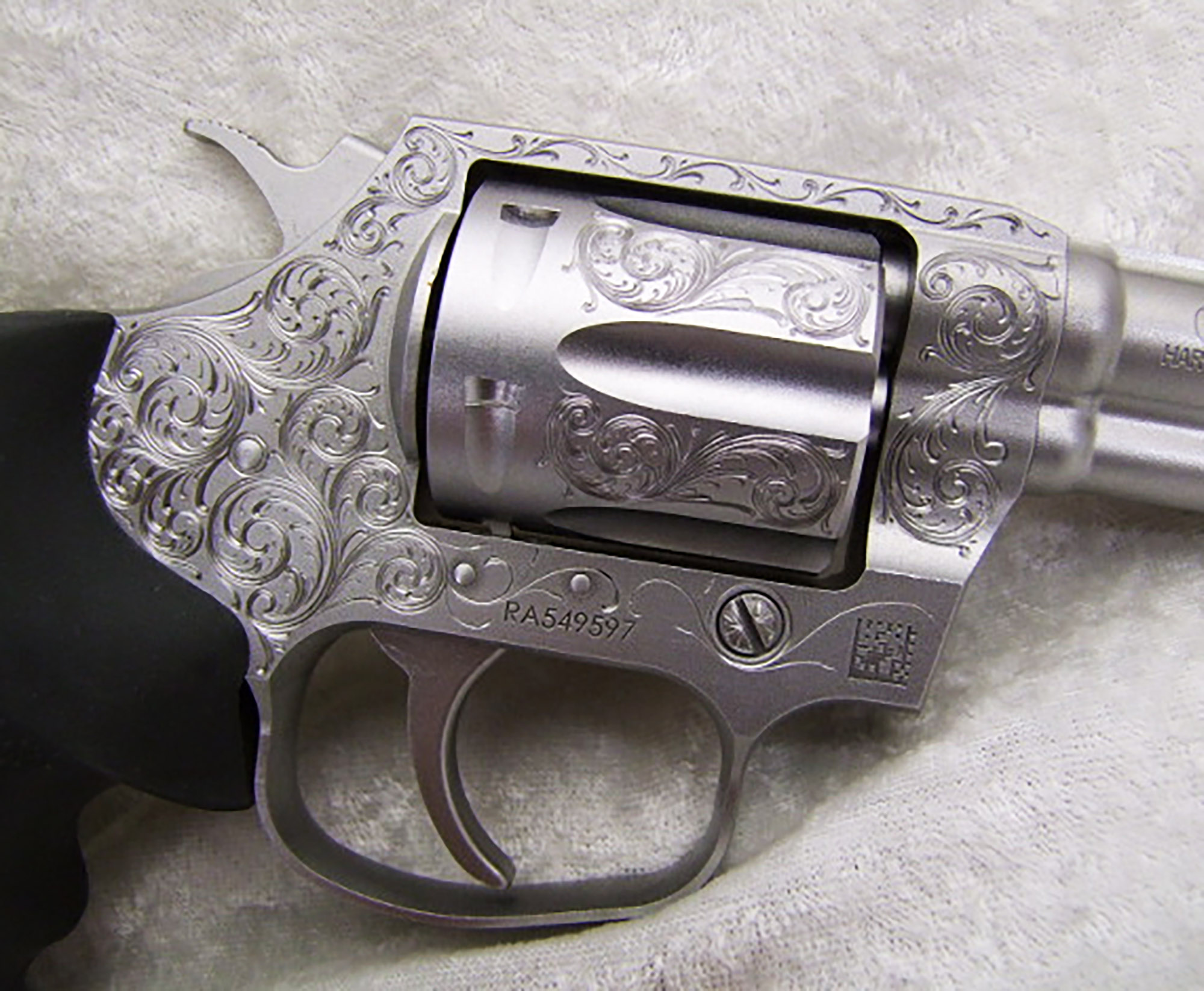There are a few of these. Hand engraved by a Master