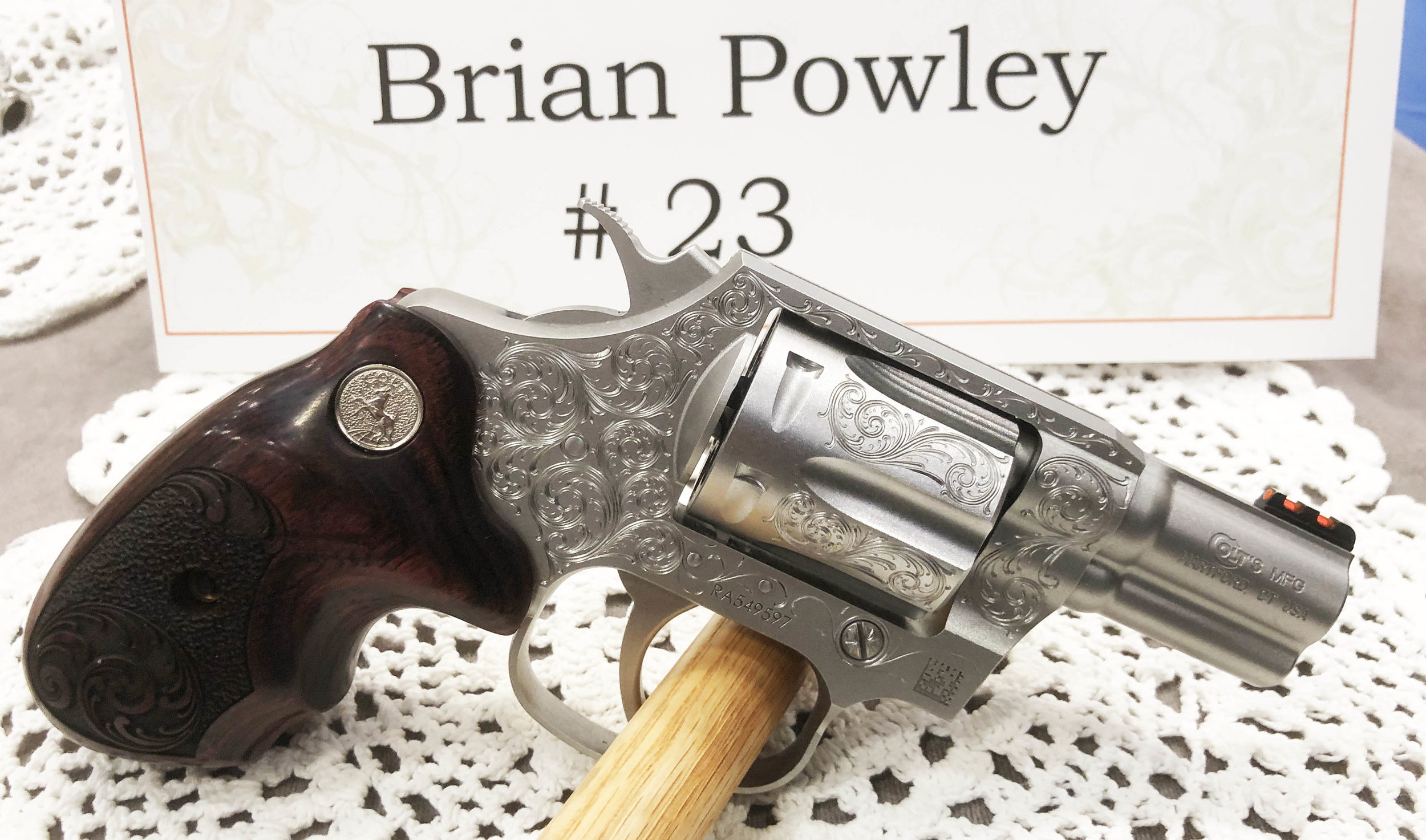 TALO project seen @ Engraver's Guild show in Las Vegas. Hand Engraved by Brian Powley