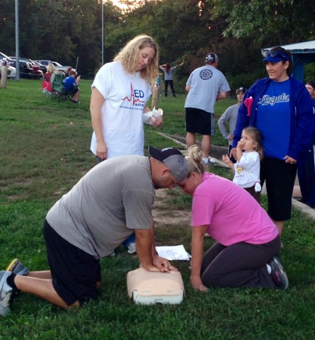 CPR/AED training at the Necco Raiders Football Field