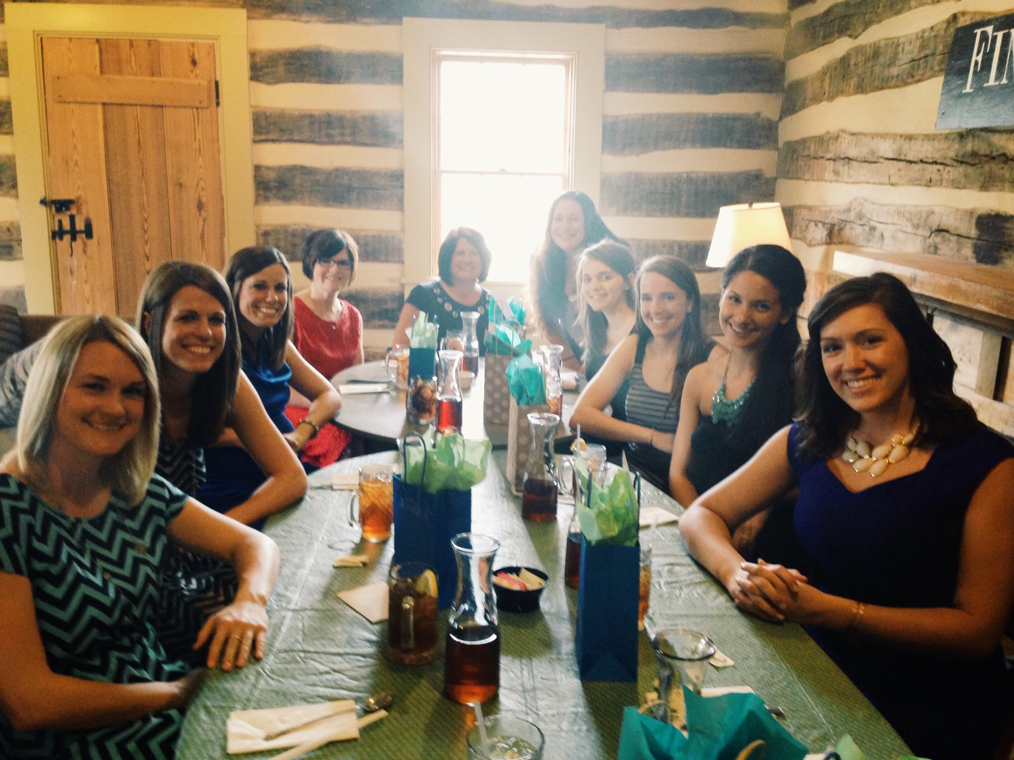 Bridal Luncheon at the Tea Tavern Friday