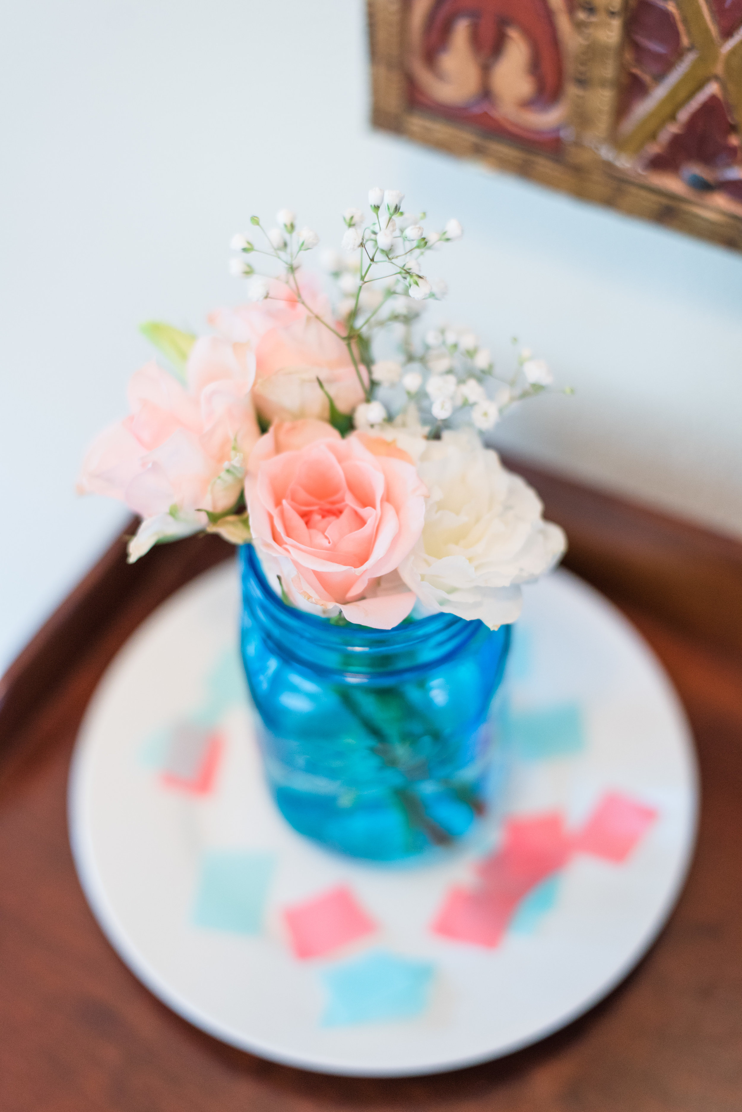 Baby shower flowers [Photo: Courtney Timms Photography]