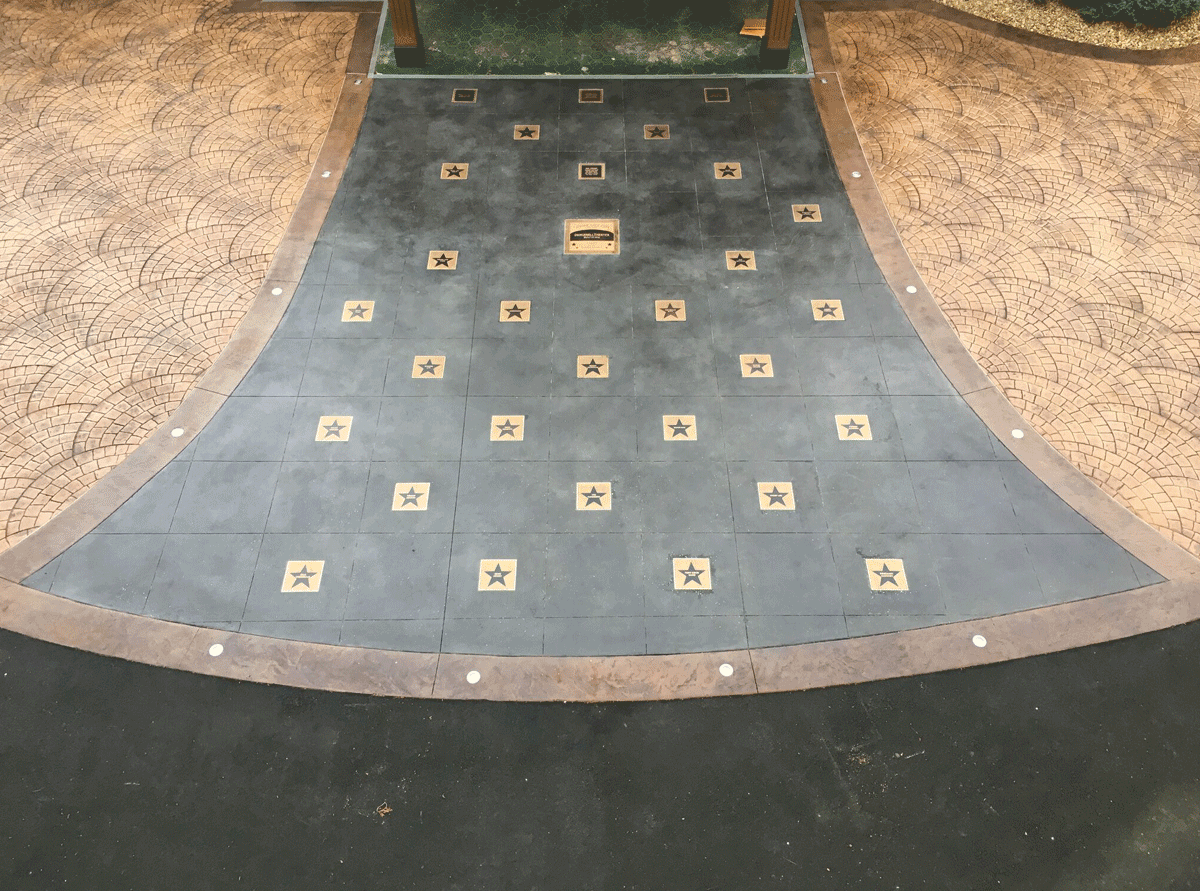 Canobie Lake Park Plaques - Installed in Ground - Bronze Insets