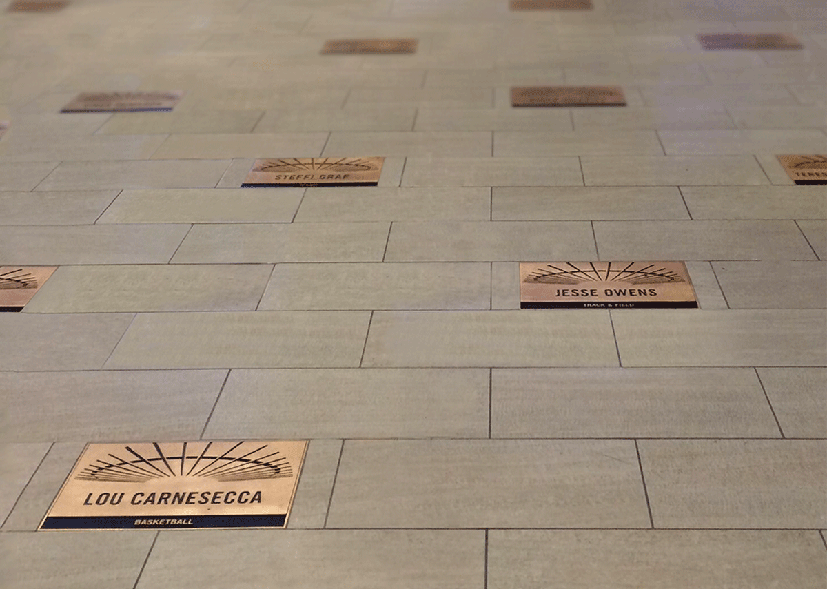 MSG Walk of Fame plaques - Madison Square Garden - NYC - Bronze Insets - Bronze plaques