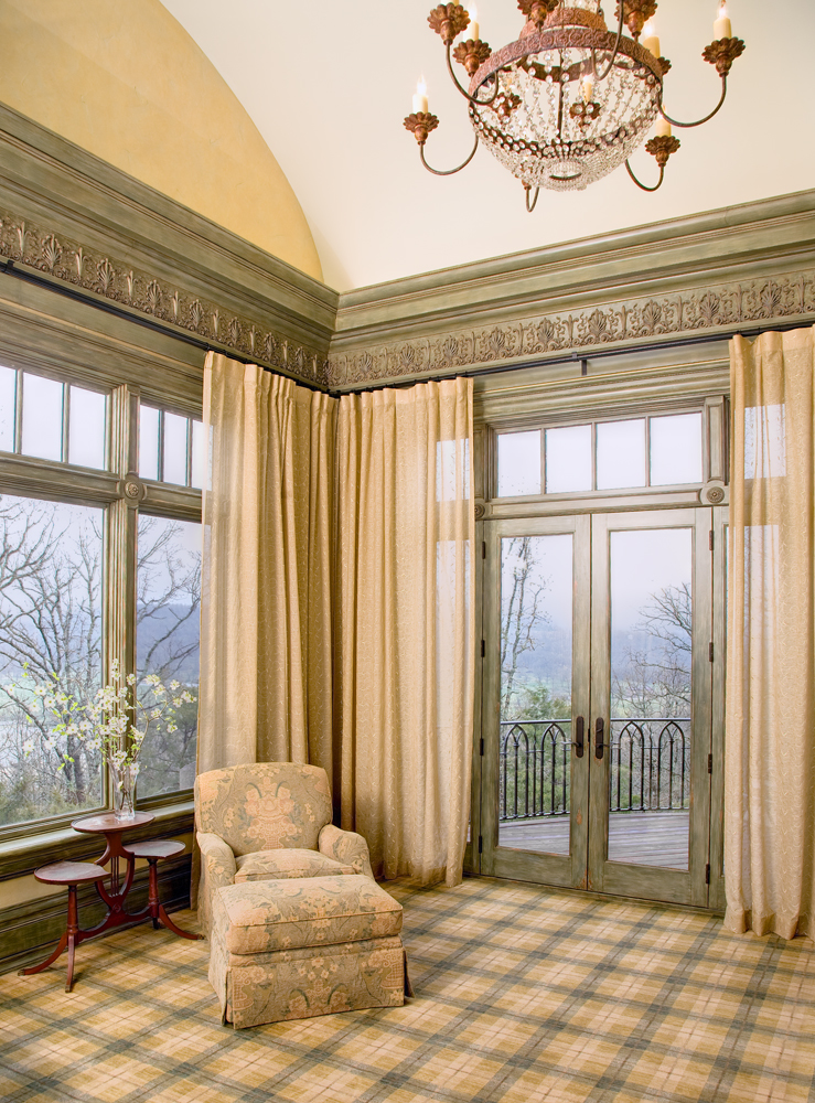 The Master Bedroom.  Perfectly proportioned with a large cornice.