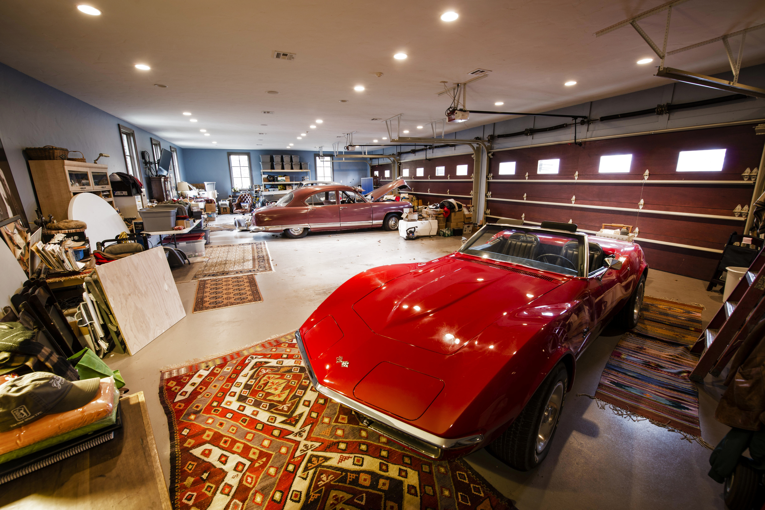His 5-car garage. The ultimate man cave.