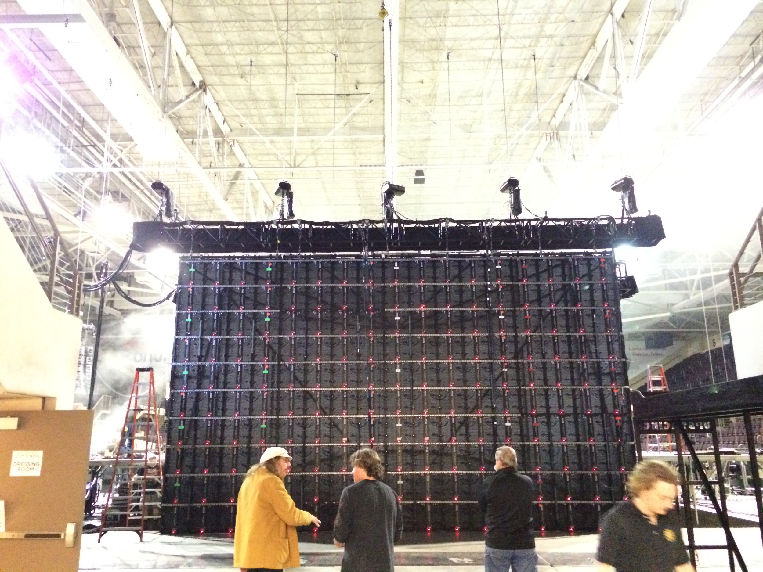 Back of LED Wall