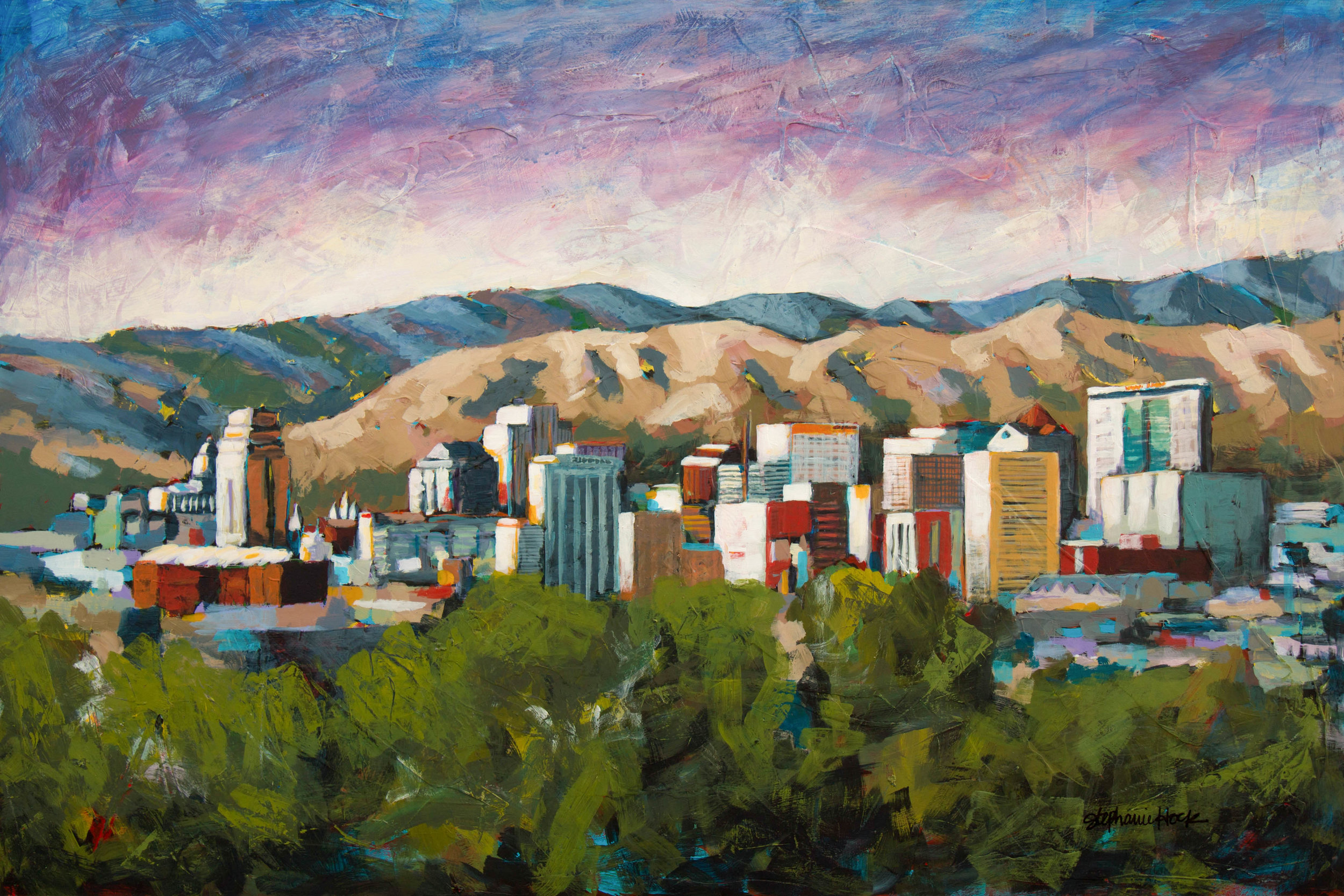 Salt Lake City Skyline, 24x36