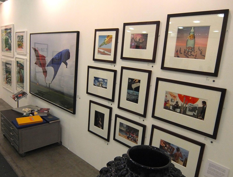 Art 14 - collages next to a Storm Thorgerson piece