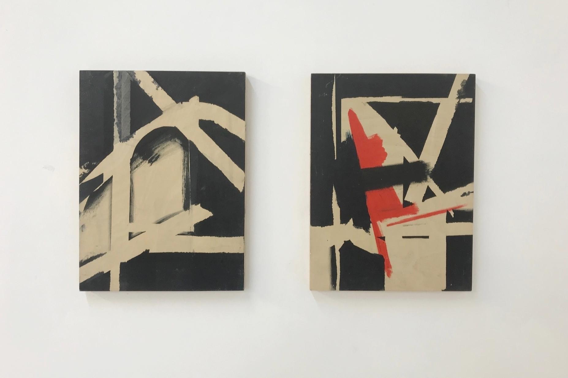 Untitled, Acrylic on wood, 23cm x30.5cm each