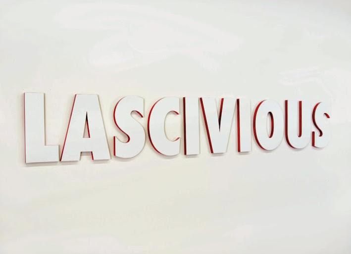 "Exhibition card for ""Lascivious""."