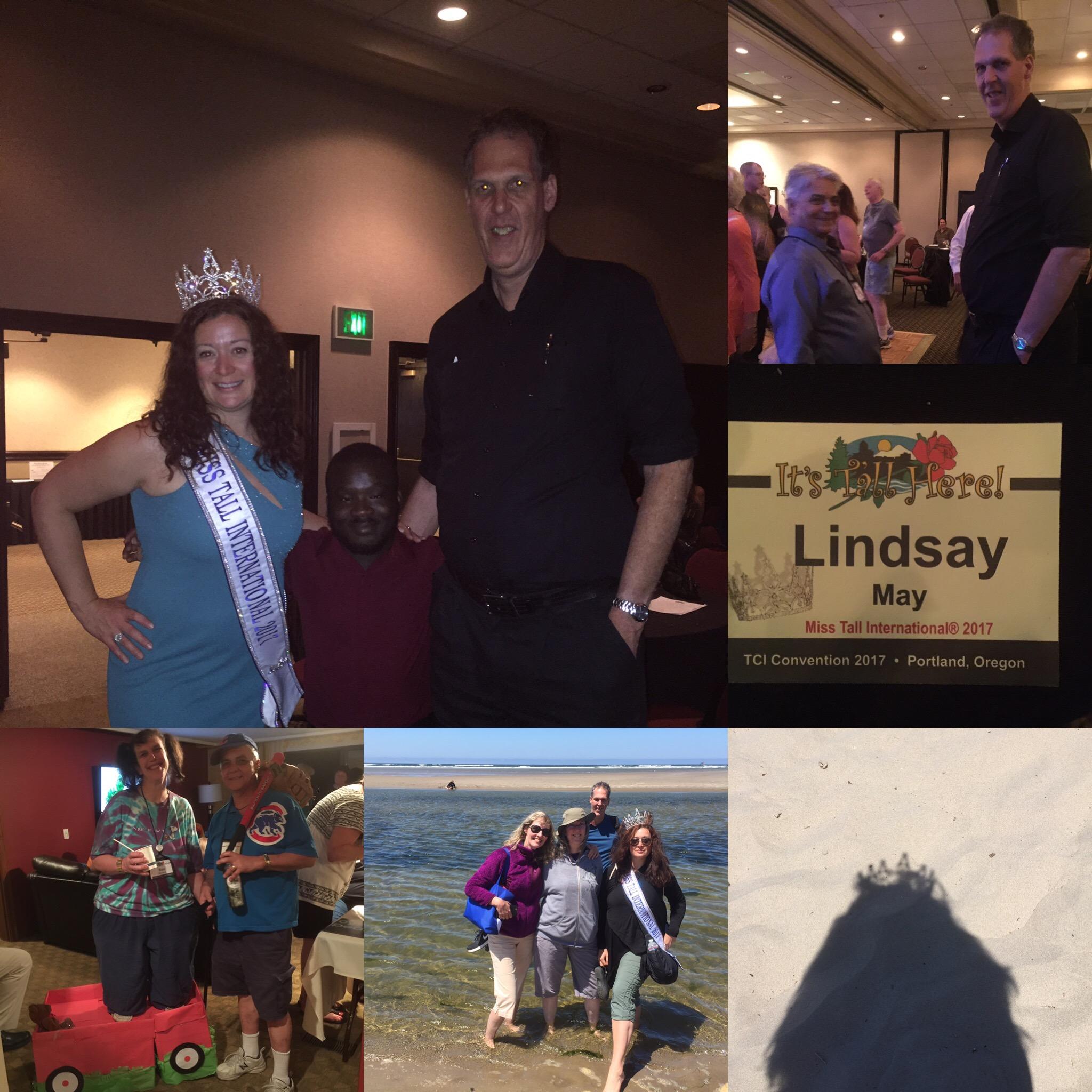 Tall Club Convention 2017 where Lindsay May won Miss TI