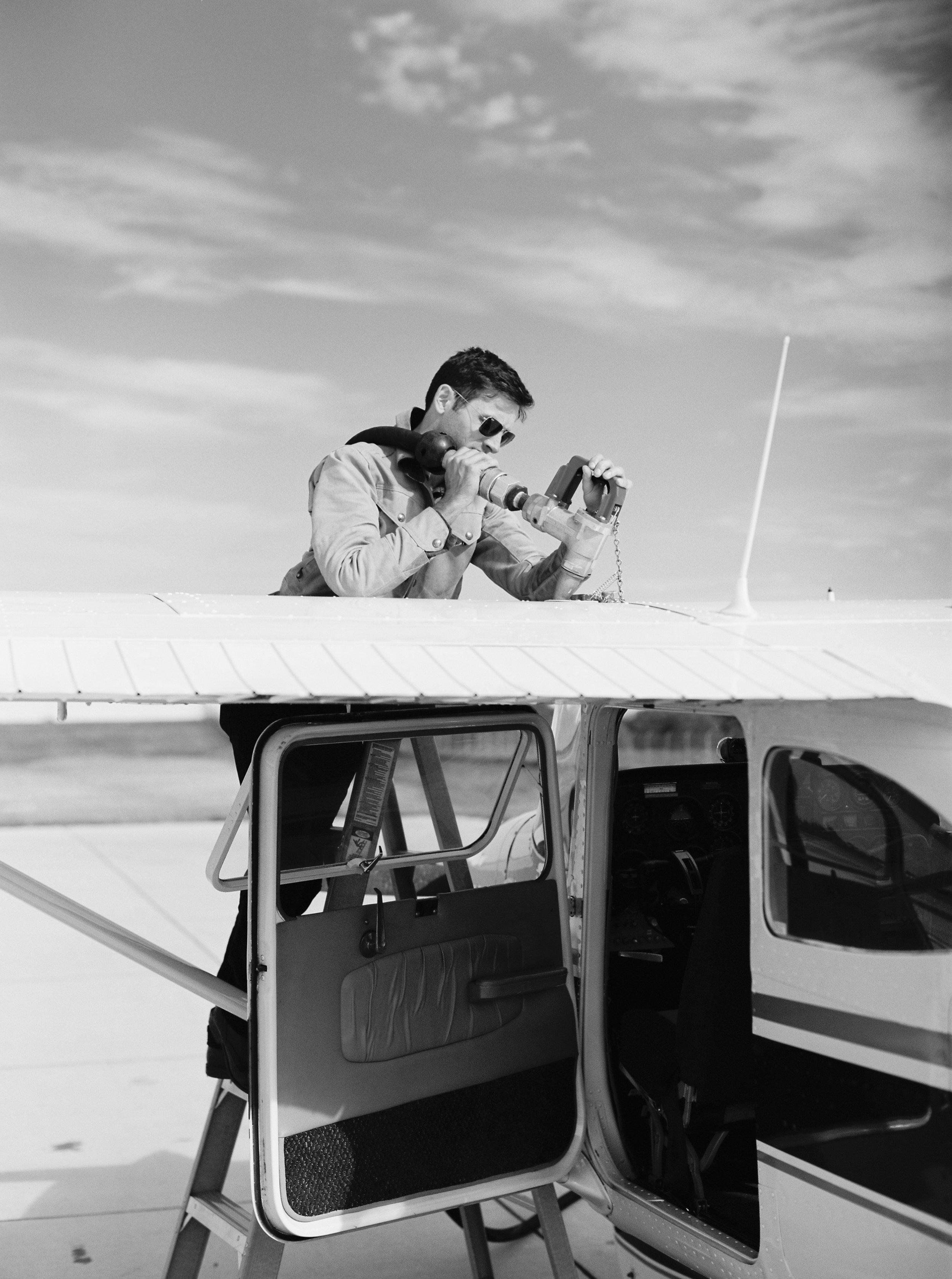 Kyle John l Fine Art Wedding Photography l Chicago, Copenhagen, California, New York, Destination l Blog l Airplane_Pilot_Engagement_Chicago_6