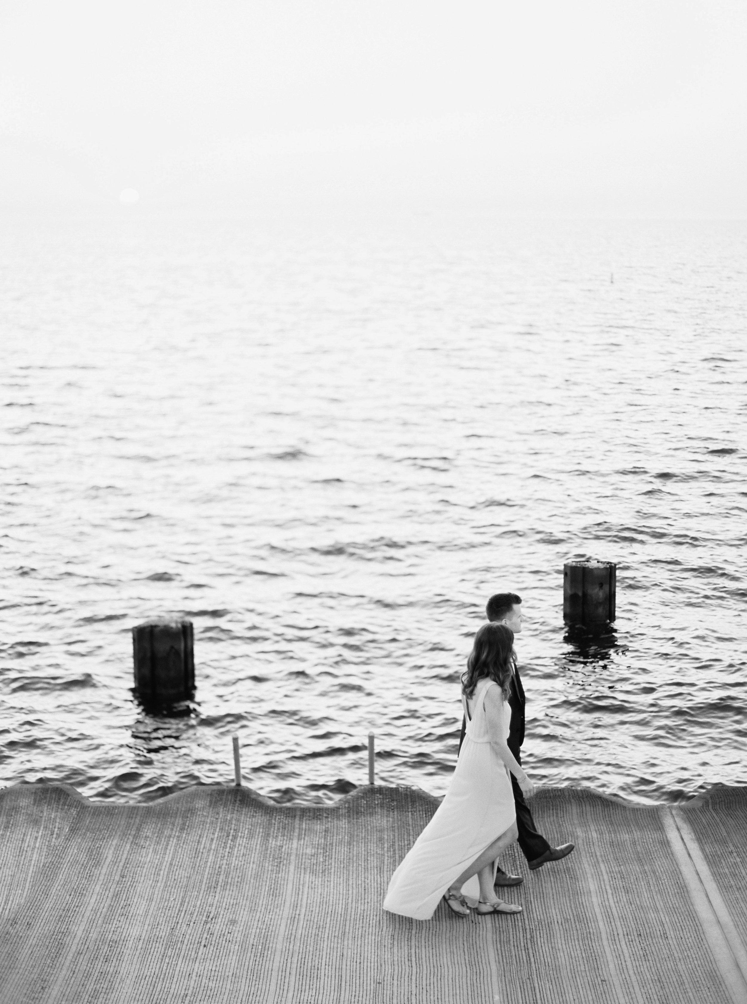 Kyle John l Fine Art Wedding Photography l Chicago, Copenhagen, California, New York, Destination l Blog l Nathalie and Colby_Lake Michigan_Sunrise Engagement_2