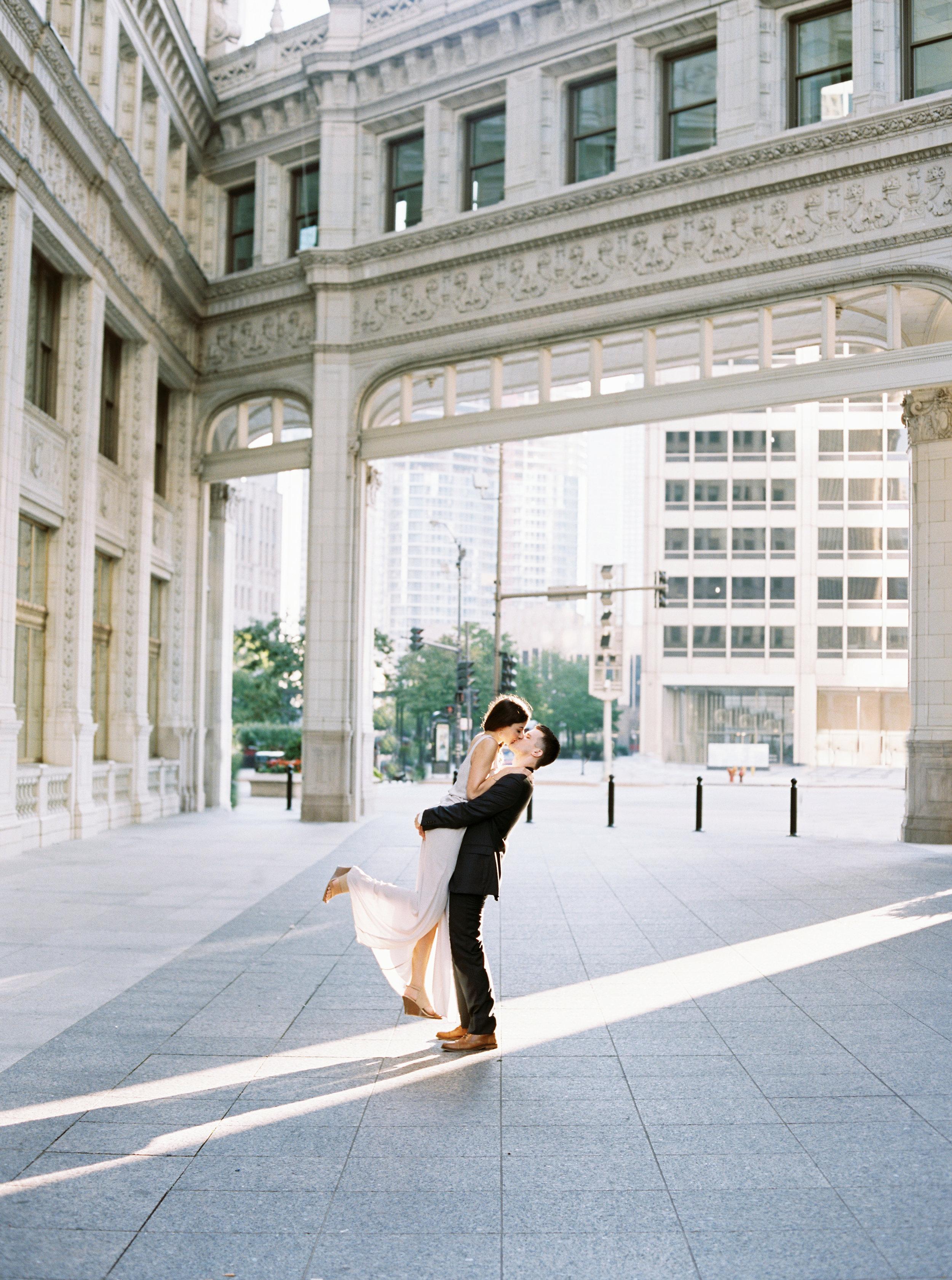 Kyle John l Fine Art Wedding Photography l Chicago, Copenhagen, California, New York, Destination l Blog l Nathalie and Colby_Lake Michigan_Sunrise Engagement_22