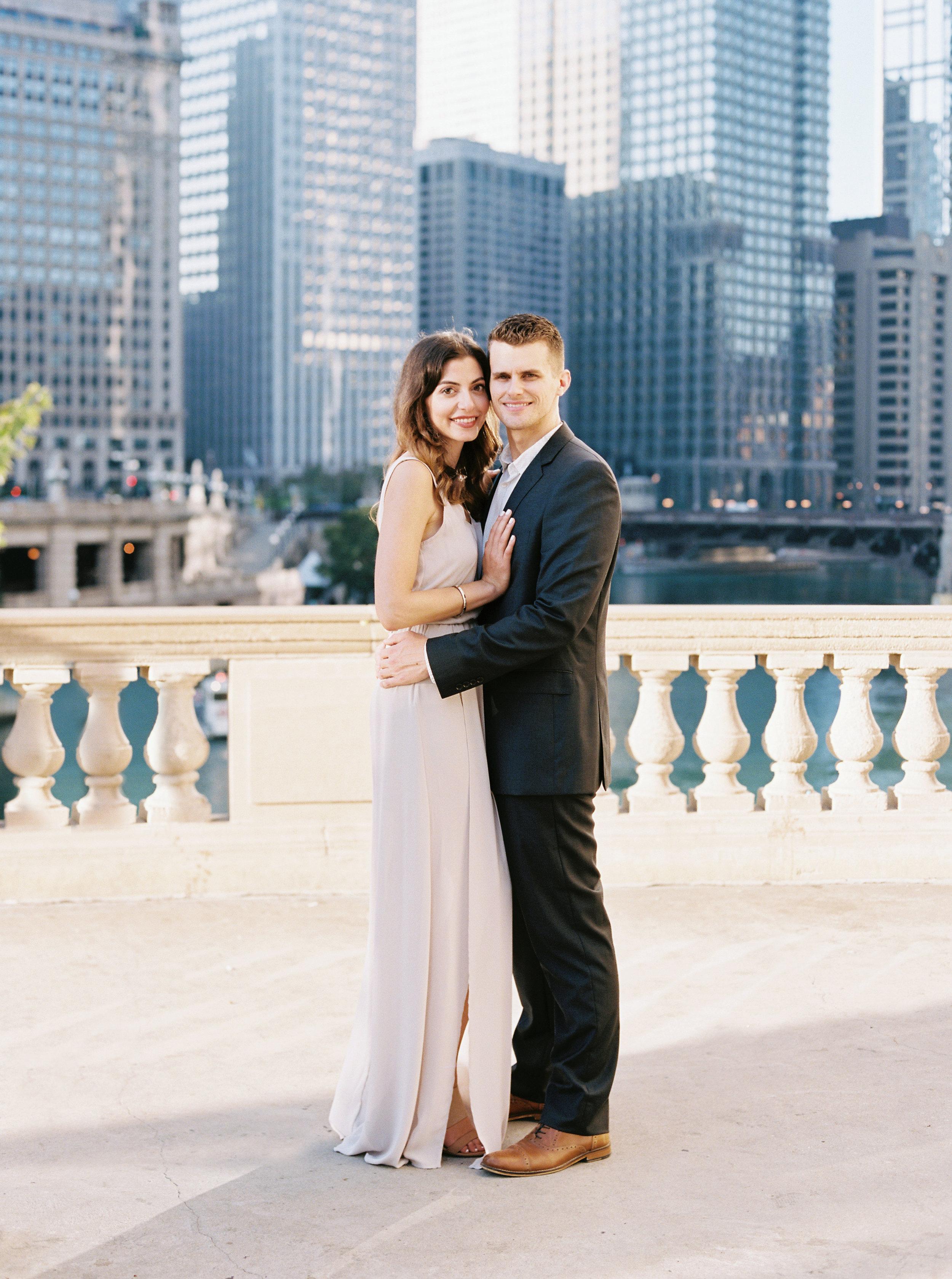 Kyle John l Fine Art Wedding Photography l Chicago, Copenhagen, California, New York, Destination l Blog l Nathalie and Colby_Lake Michigan_Sunrise Engagement_19