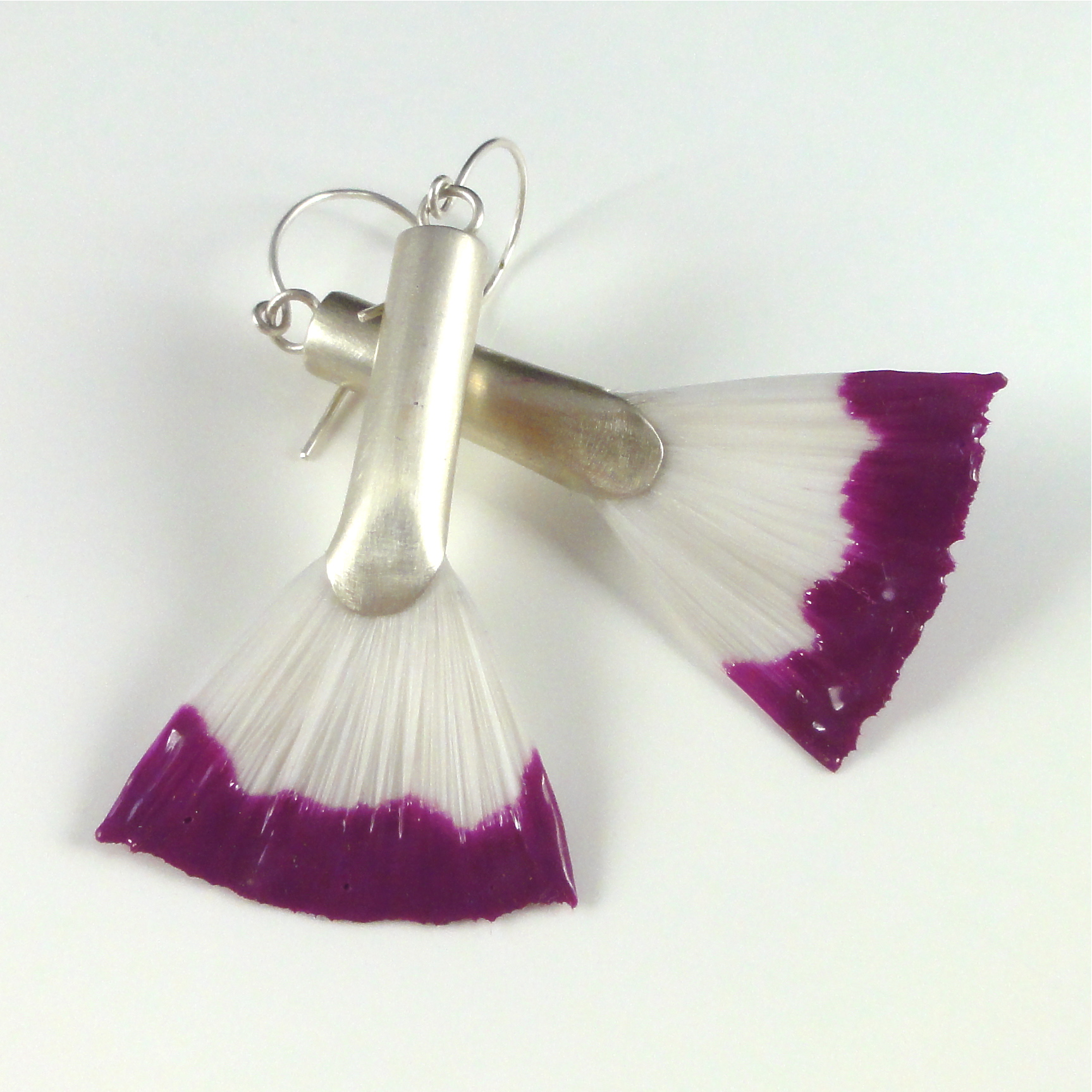 Sterling silver earrings with paint brushes