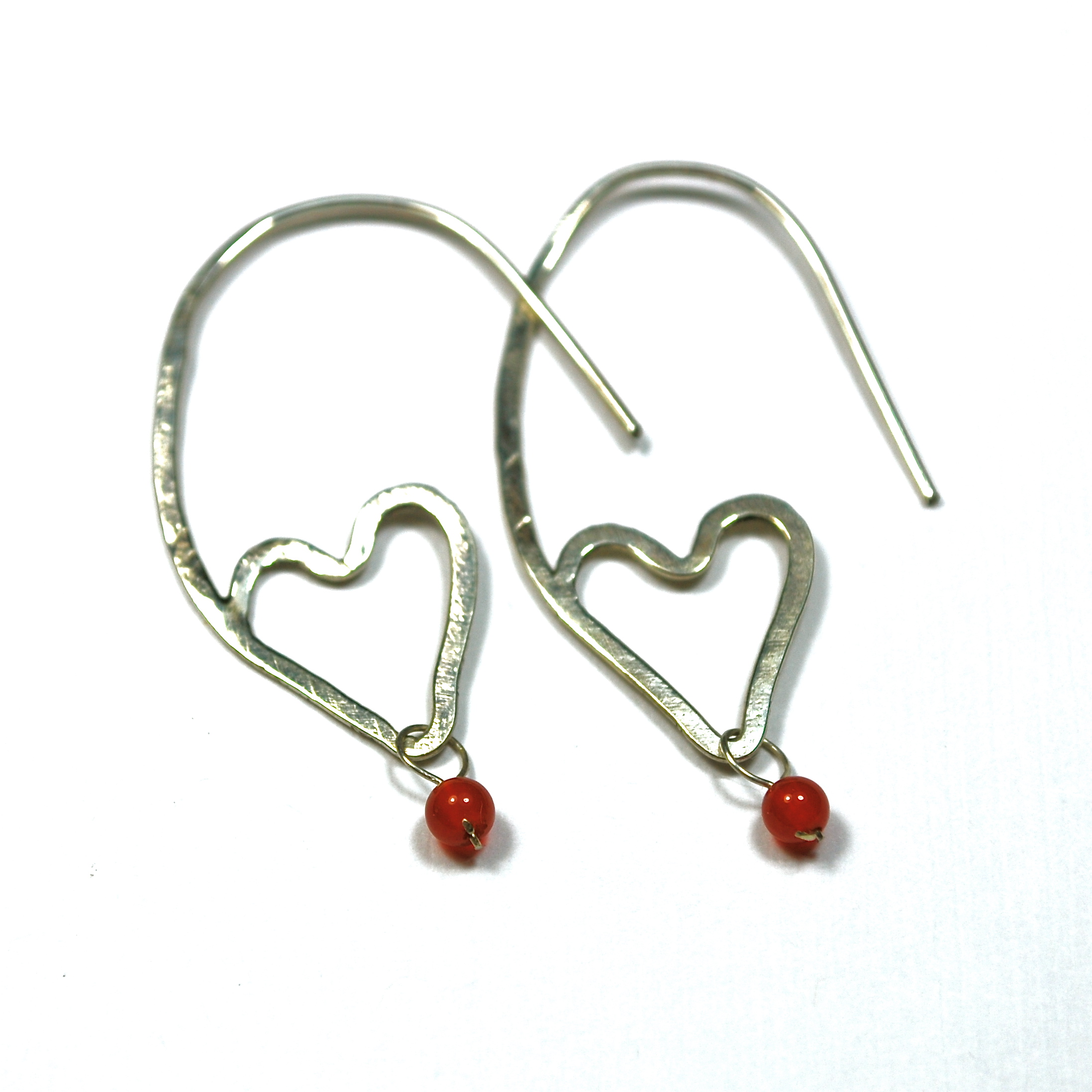 sterling silver earrings with coral