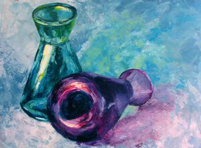 Analogous Vases - Green Blue Violet
